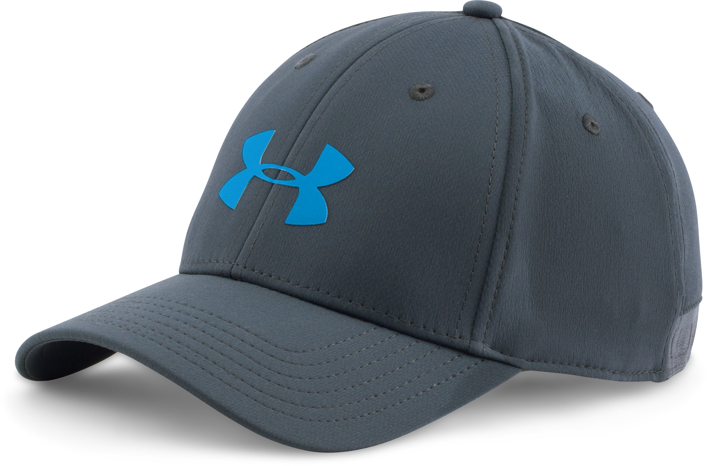 Men's UA Headline Stretch Fit Cap, STEALTH GRAY, zoomed image