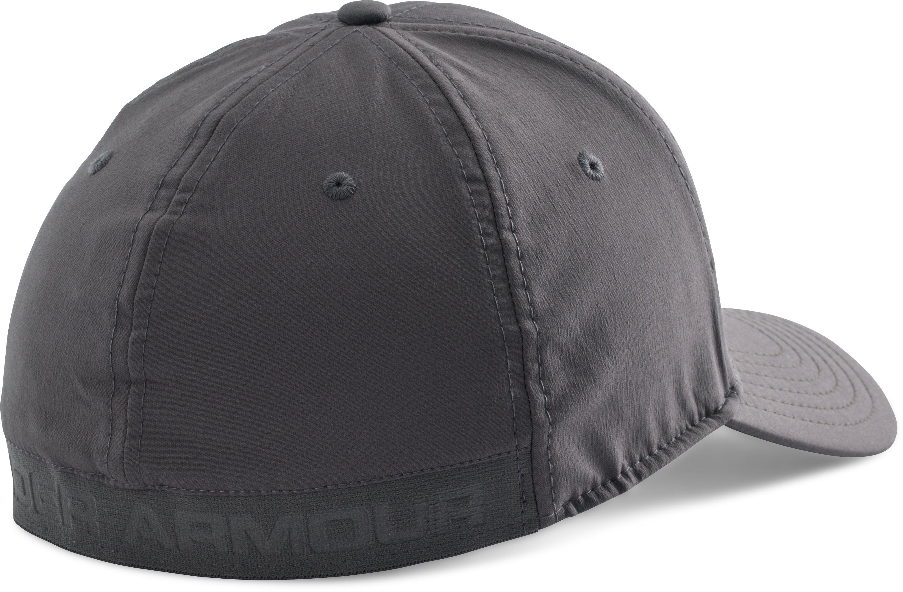 Men's UA Headline Stretch Fit Cap, Charcoal, undefined