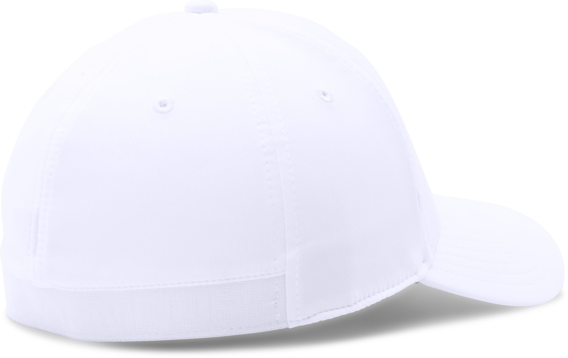 Men's UA Headline Stretch Fit Cap, White