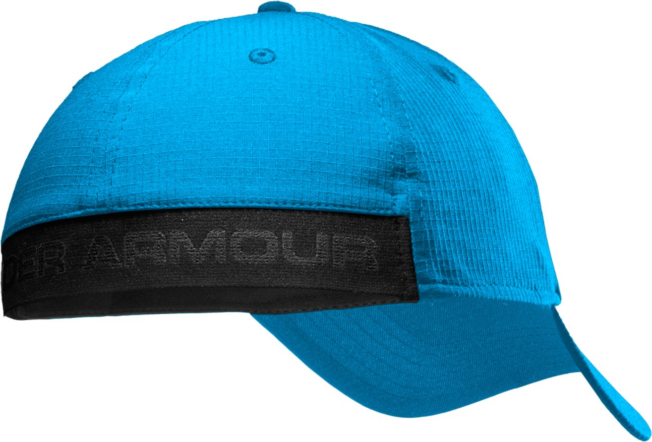 Men's UA Headline Stretch Fit Cap, ELECTRIC BLUE, undefined