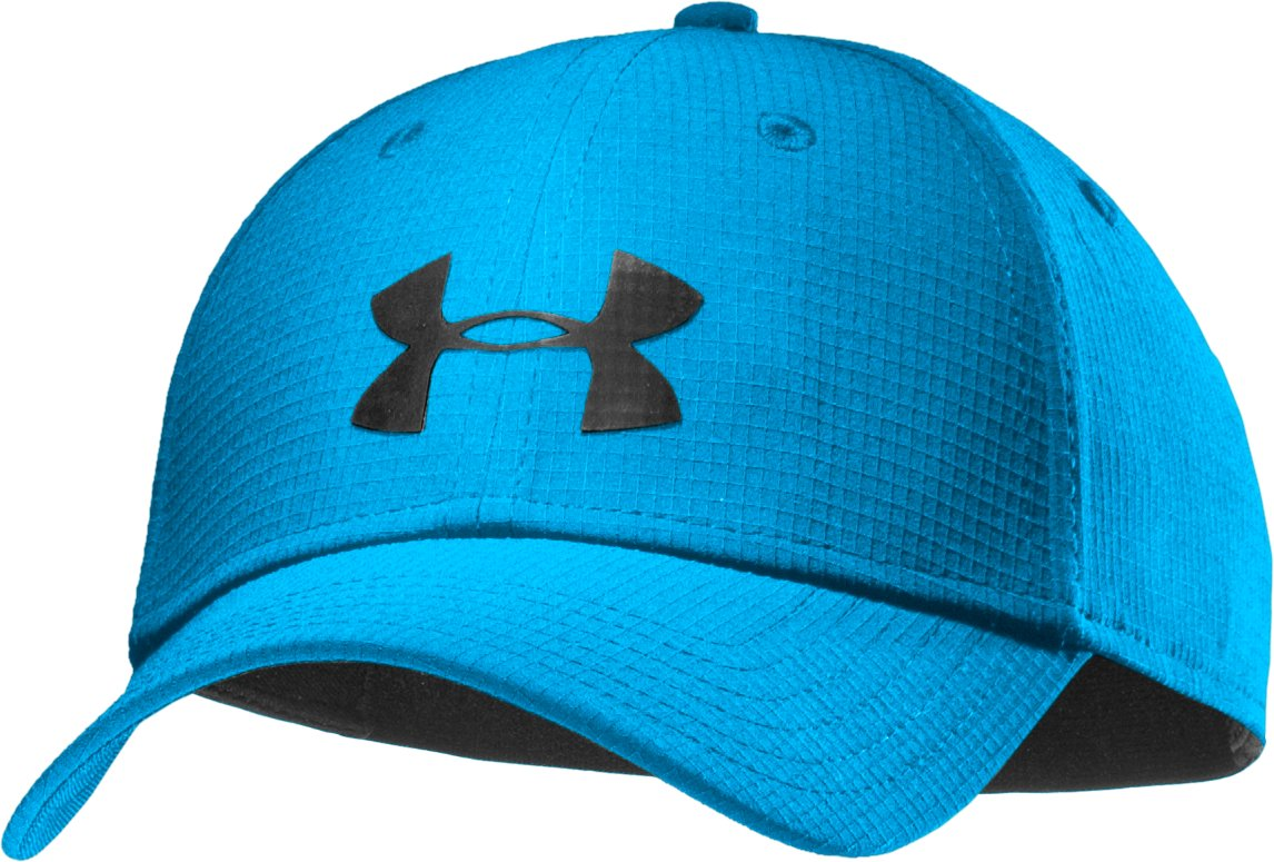 Men's UA Headline Stretch Fit Cap, ELECTRIC BLUE