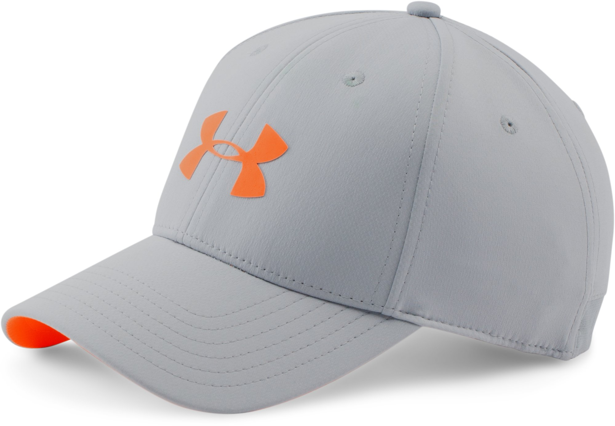 Men's UA Headline Stretch Fit Cap, OVERCAST GRAY, zoomed image
