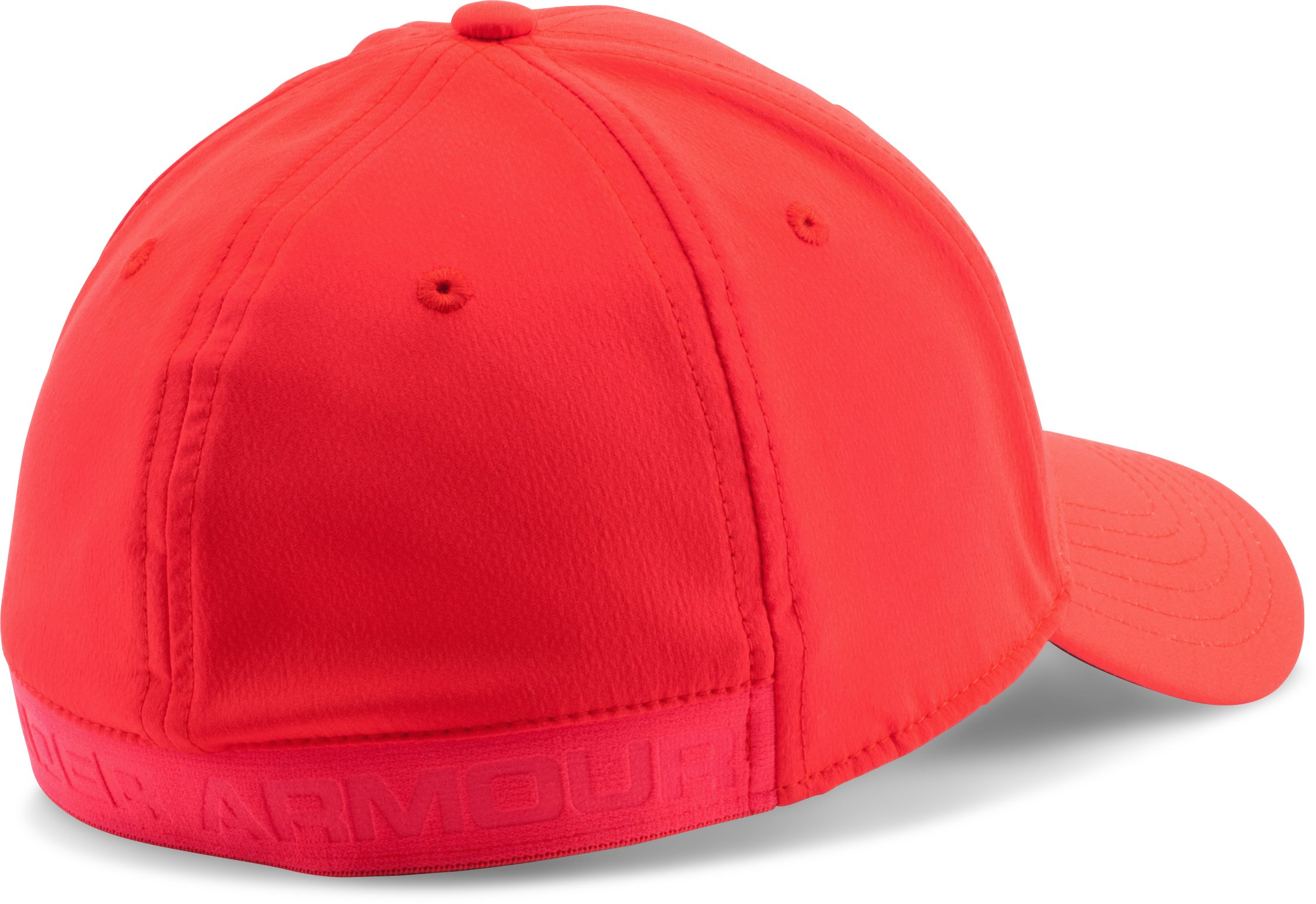 Men's UA Headline Stretch Fit Cap, ROCKET RED