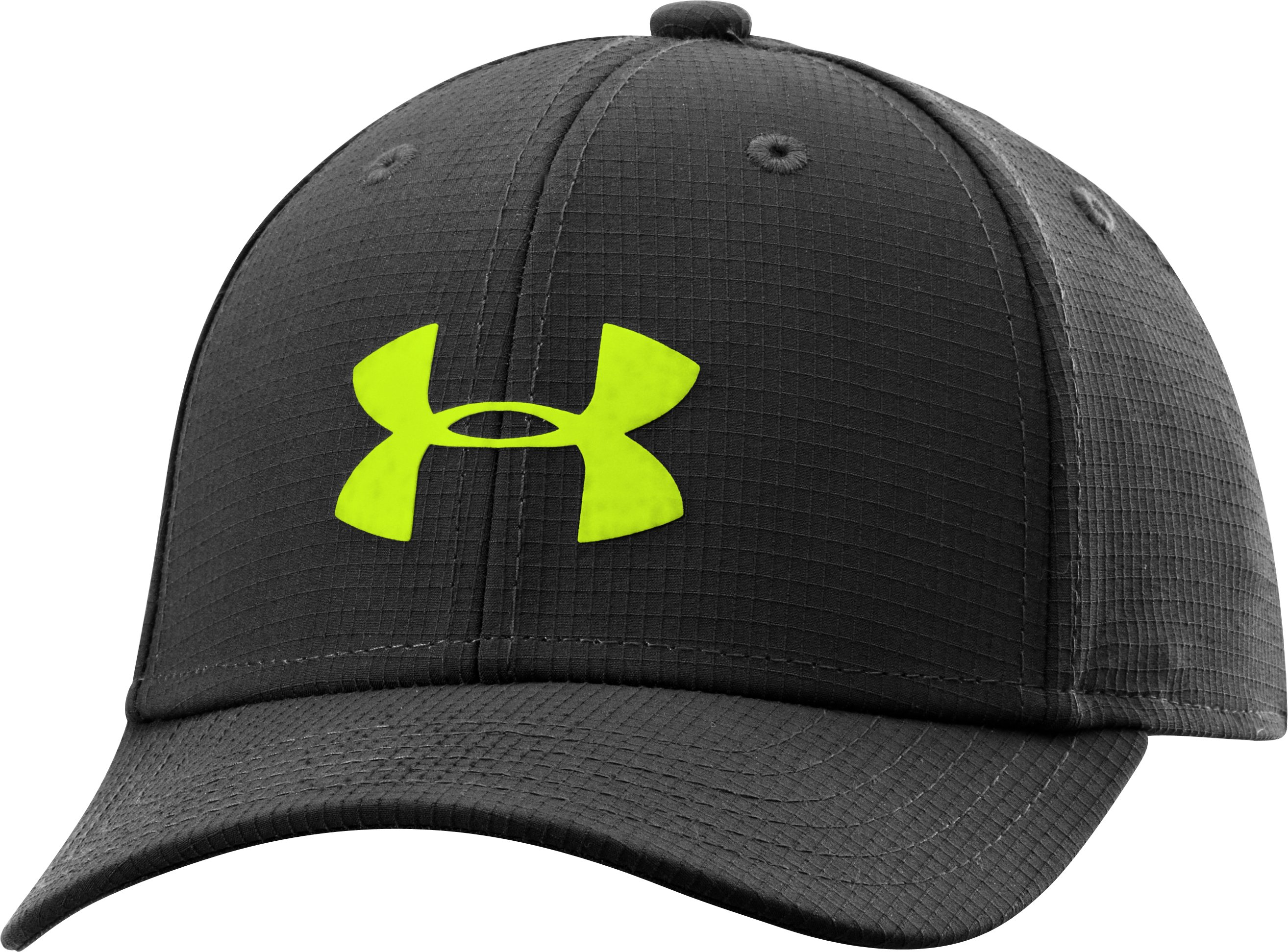 Boys' UA Headline Stretch Fit Cap, Black , zoomed image