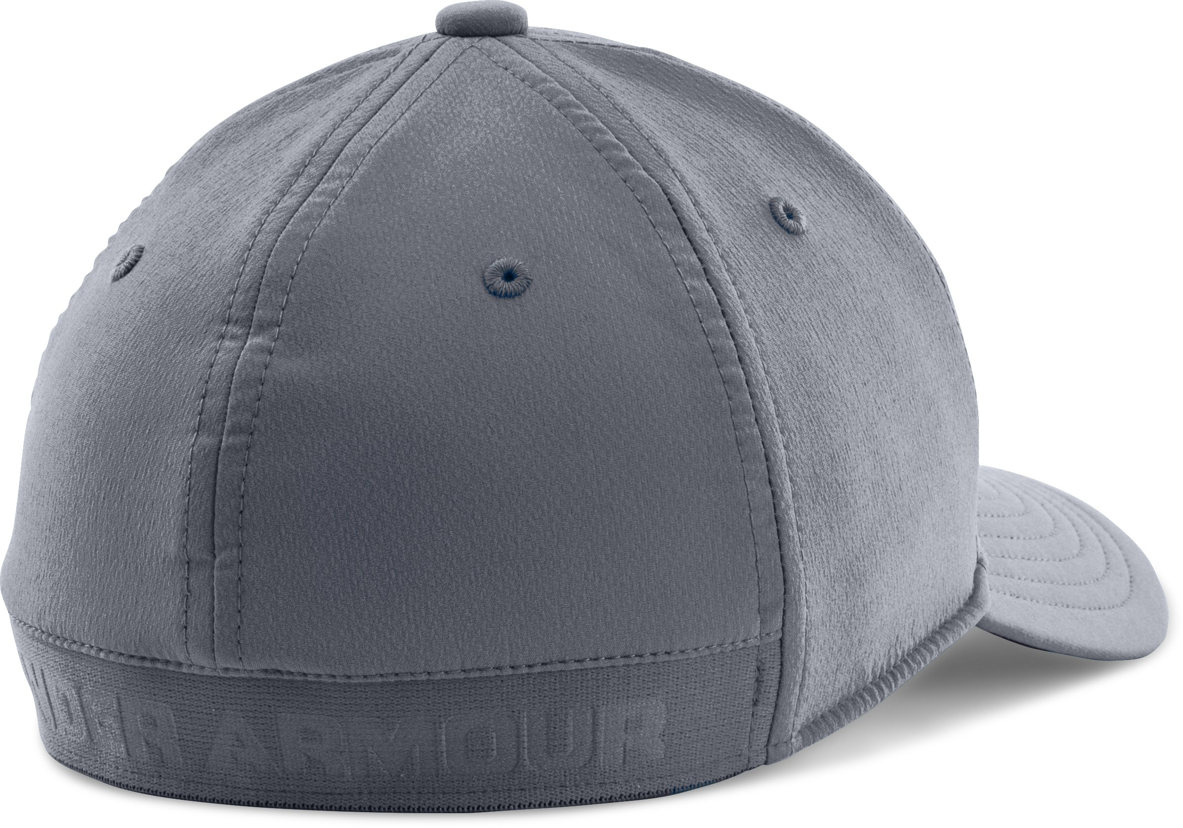 Boys' UA Headline Stretch Fit Cap, Steel,