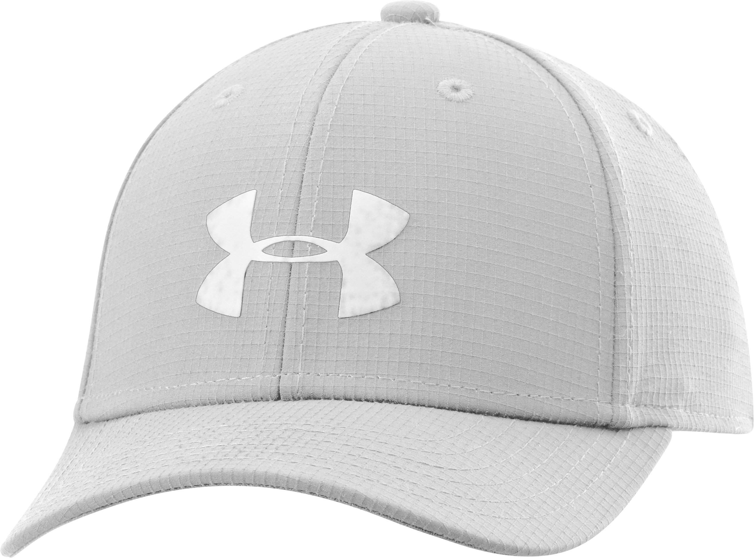 Boys' UA Headline Stretch Fit Cap, White, zoomed image