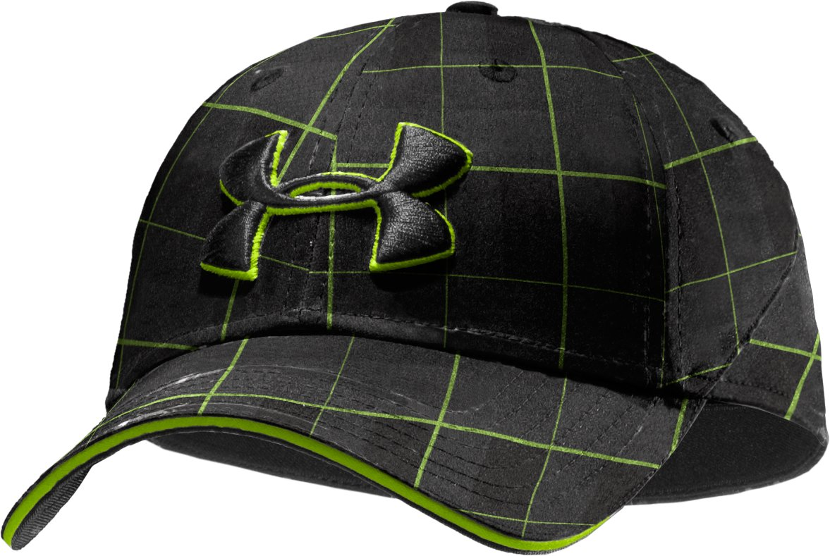 Men's UA Resonance Stretch Fit Cap, Black , zoomed image