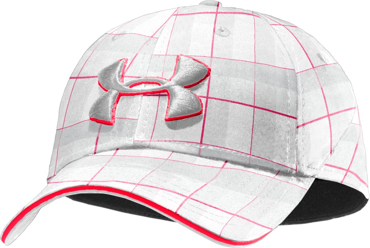 Men's UA Resonance Stretch Fit Cap, White, zoomed image