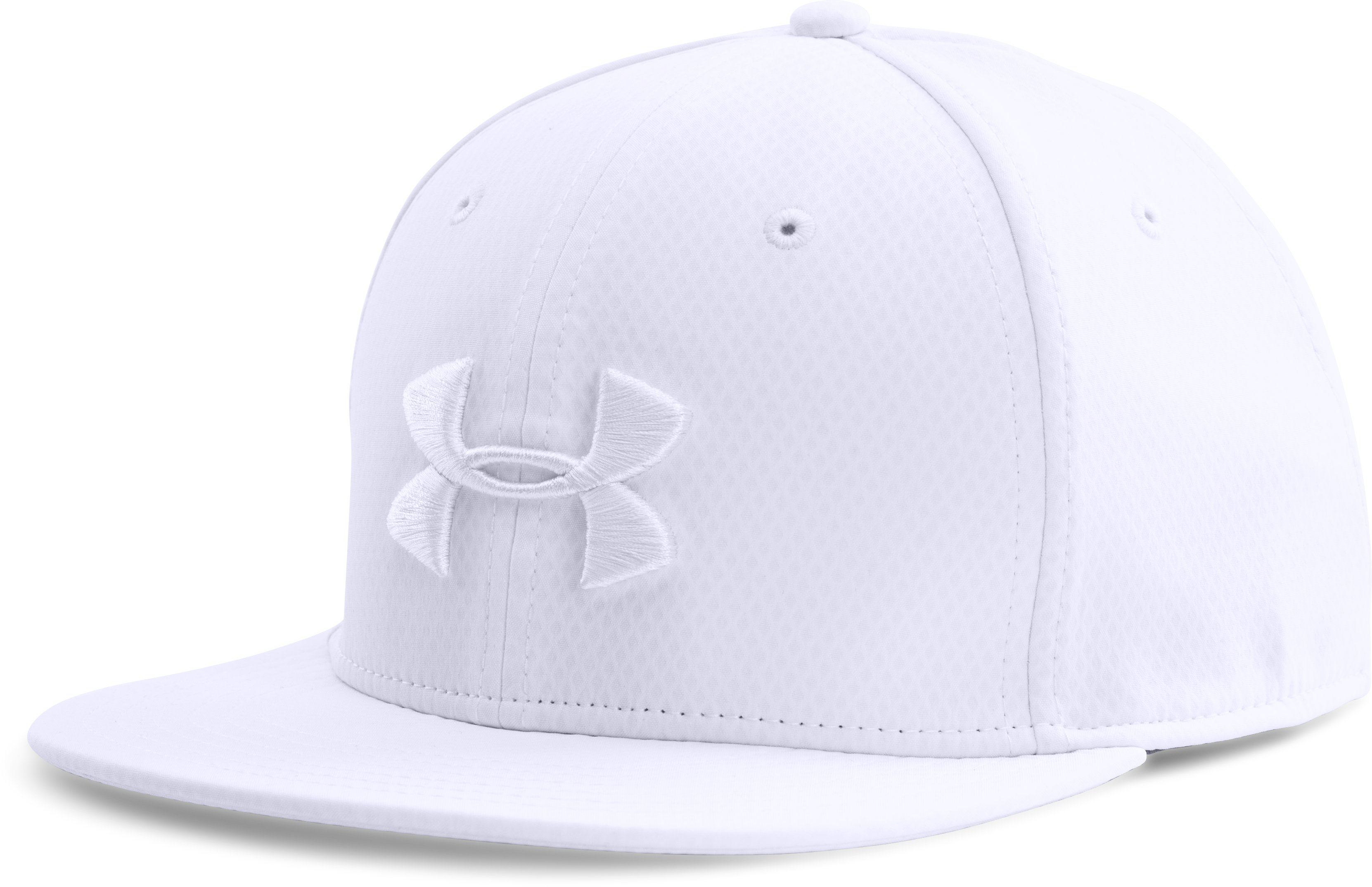 Men's UA Elevated Flat Brim Cap, White, zoomed image