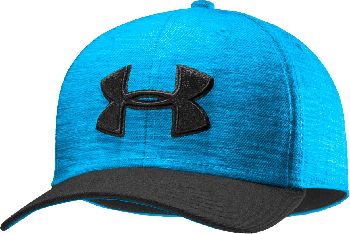 Men's UA Closer Low Crown Stretch Fit Cap, ELECTRIC BLUE
