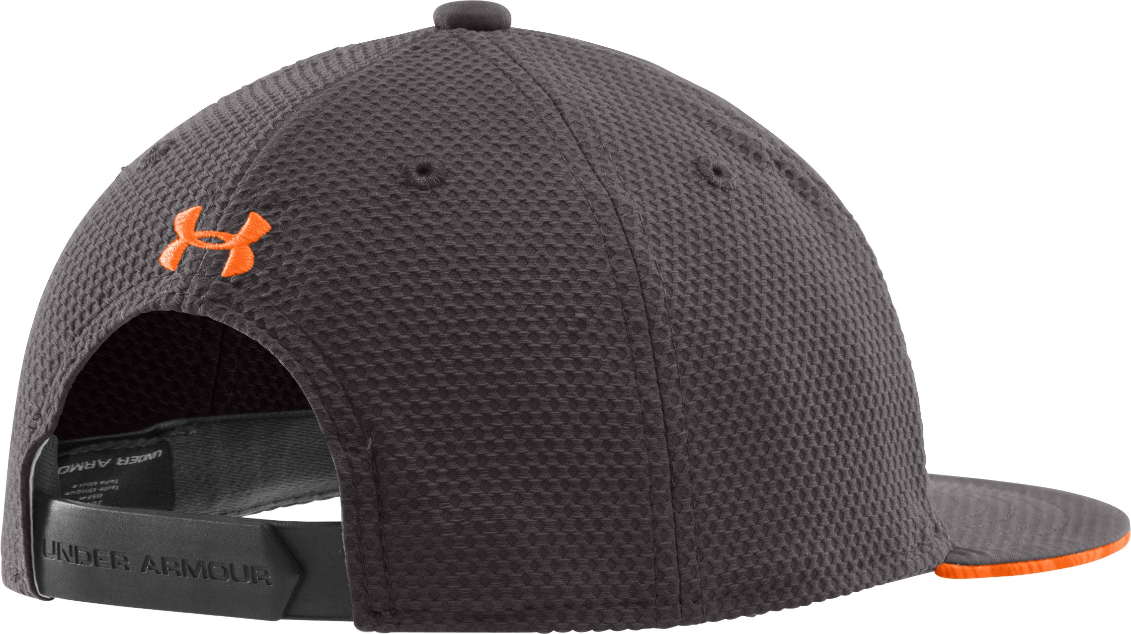 Boys' UA Eyes Up Spanback Flat Brim Cap, Charcoal