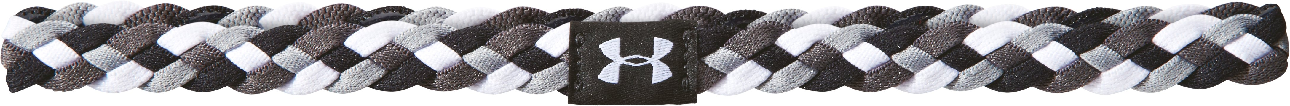 Women's UA 4-Braid Mini Headband, Black , zoomed image