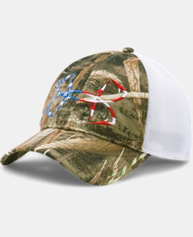 Men's UA Fish Hook Camo Adjustable Cap