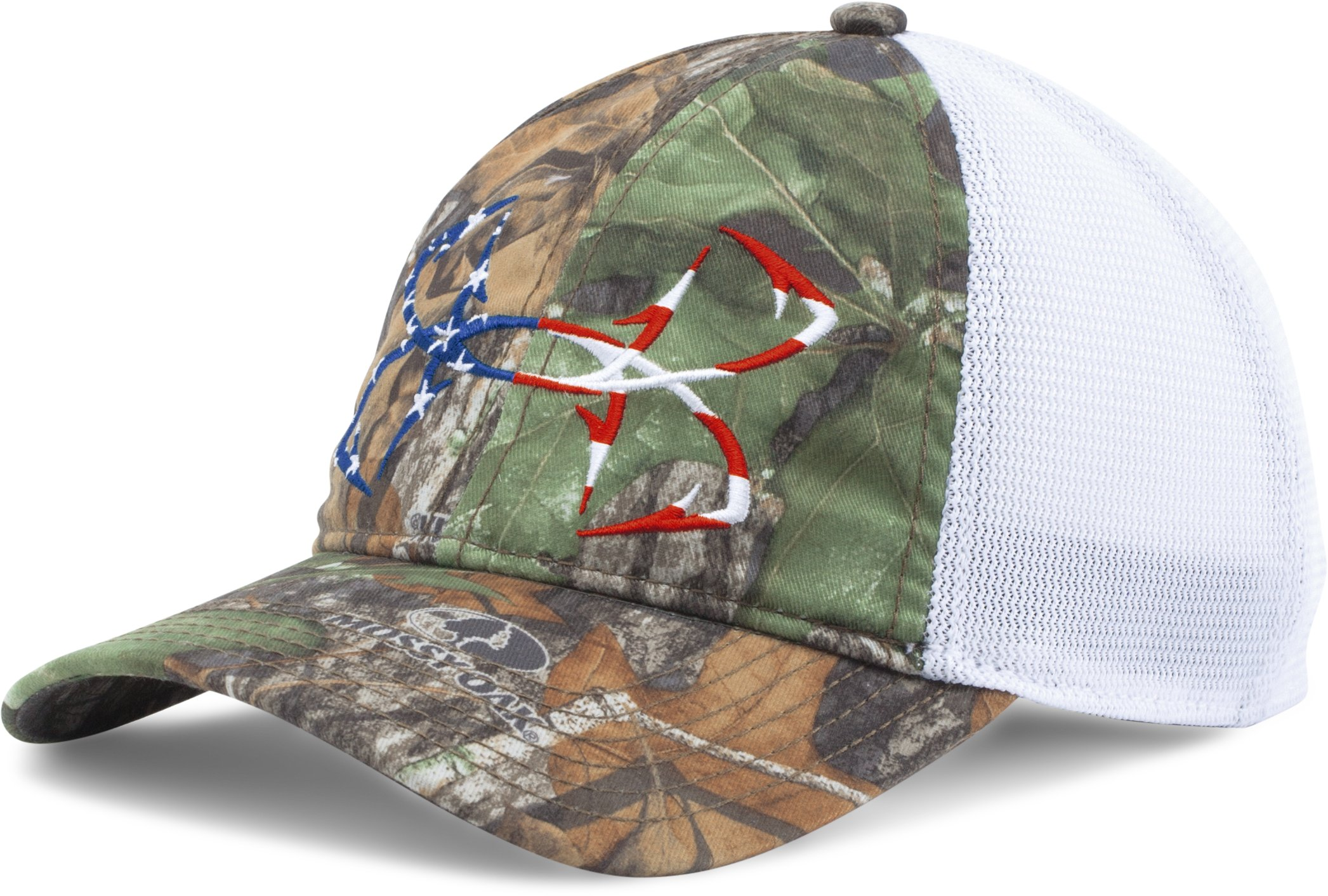Men's UA Fish Hook Camo Adjustable Cap, Mossy Oak Obsession, zoomed image