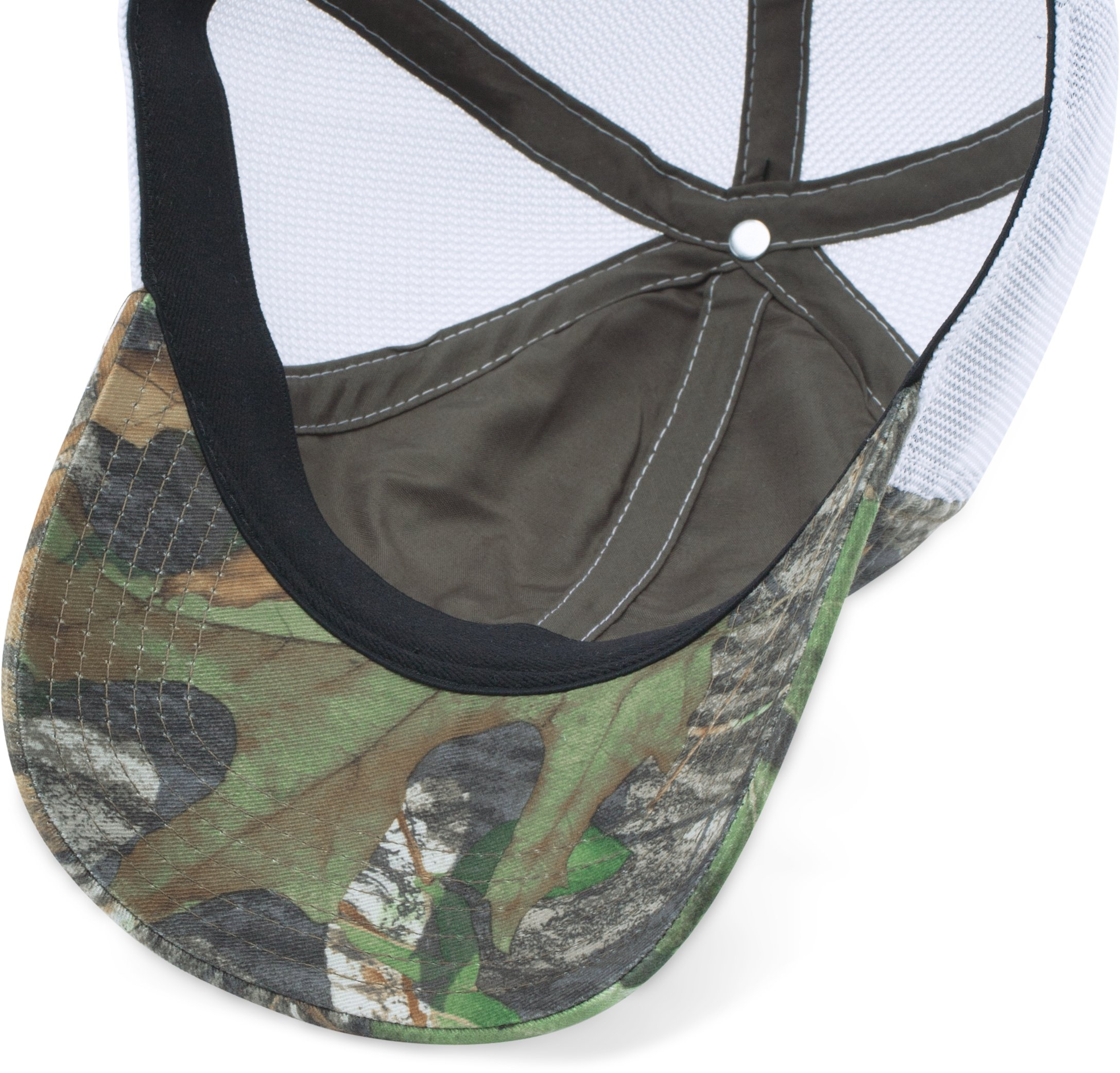 Men's UA Fish Hook Camo Adjustable Cap, Mossy Oak Obsession