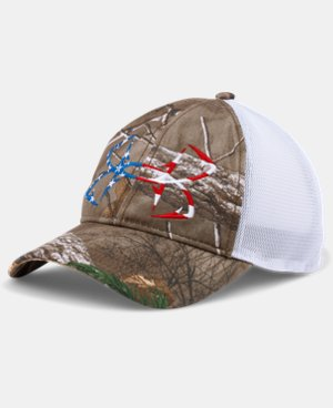 Men's UA Fish Hook Camo Adjustable Cap LIMITED TIME: FREE SHIPPING 1 Color $29.99