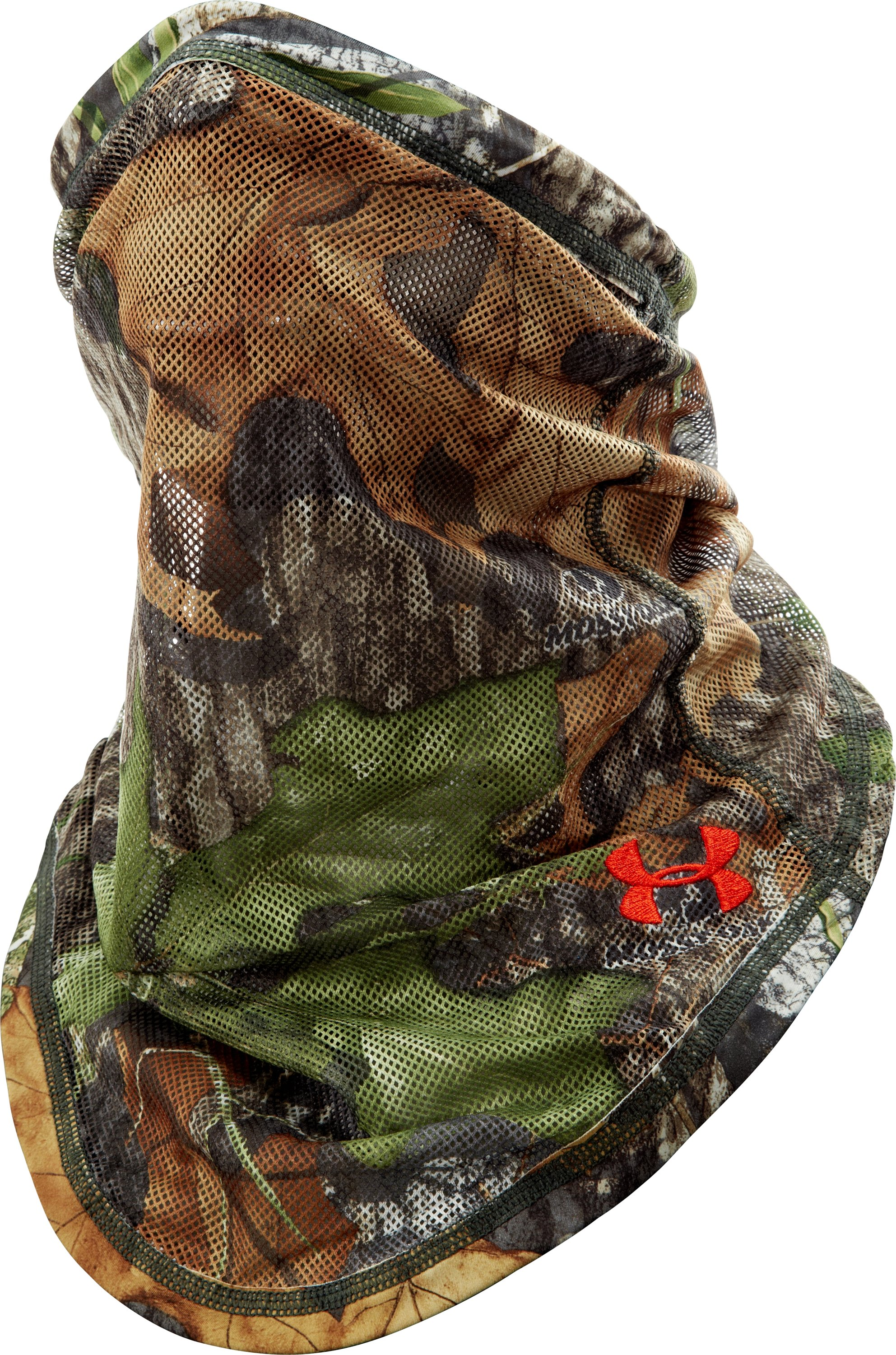 UA Camo Mesh Face Mask, Mossy Oak Obsession, zoomed image