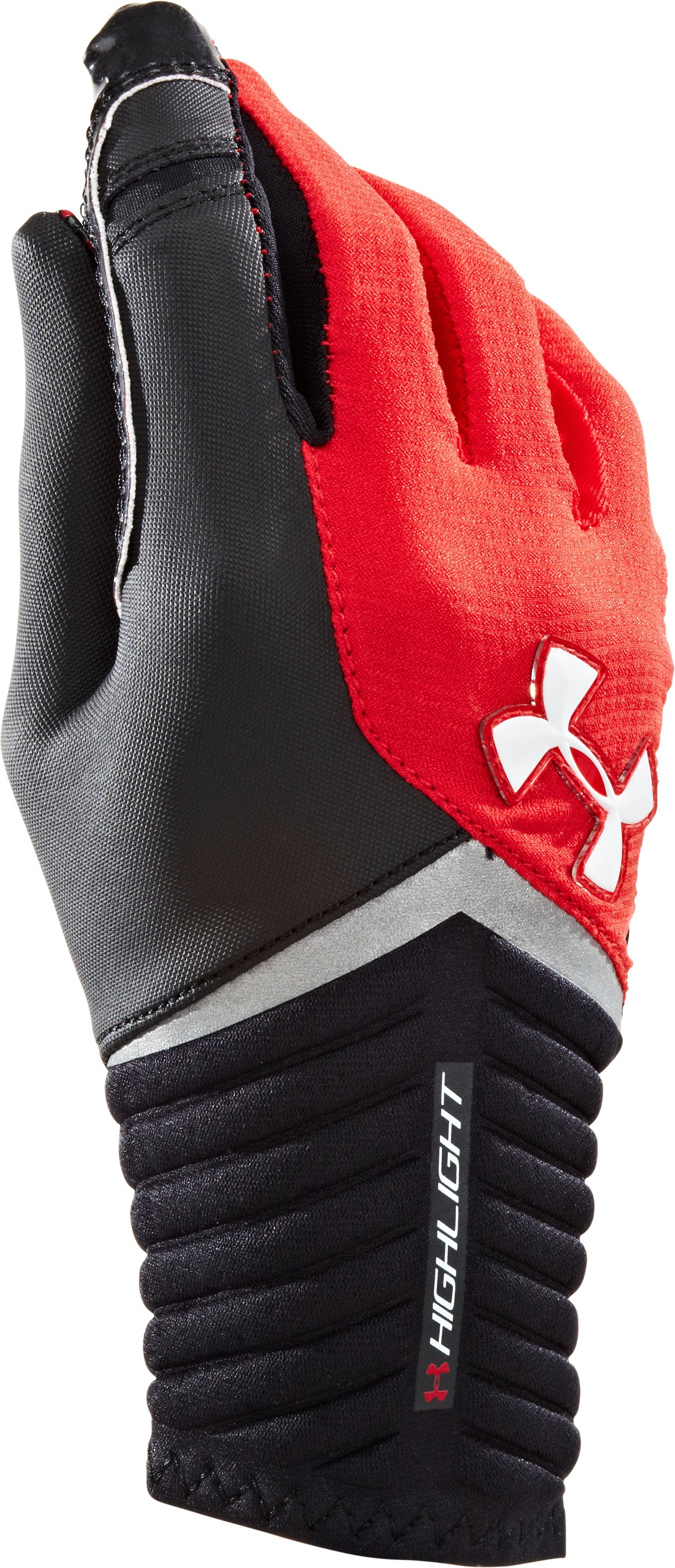 Boys' UA Highlight Football Gloves, Red
