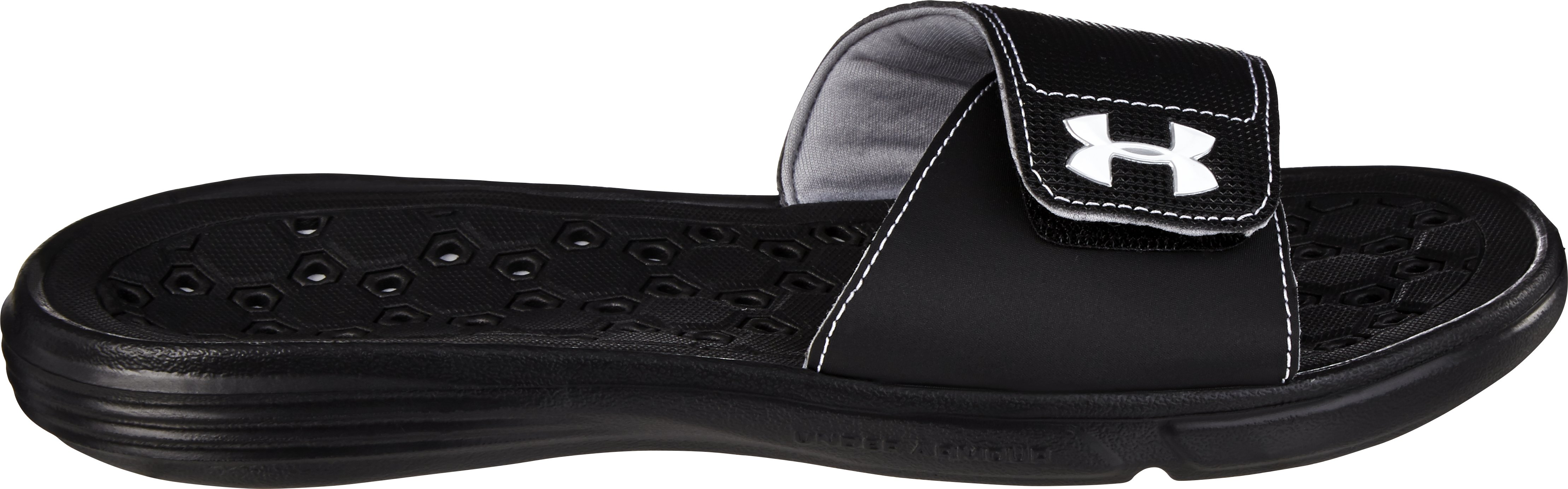 Women's UA Playmaker VI Sandal, Black , zoomed image