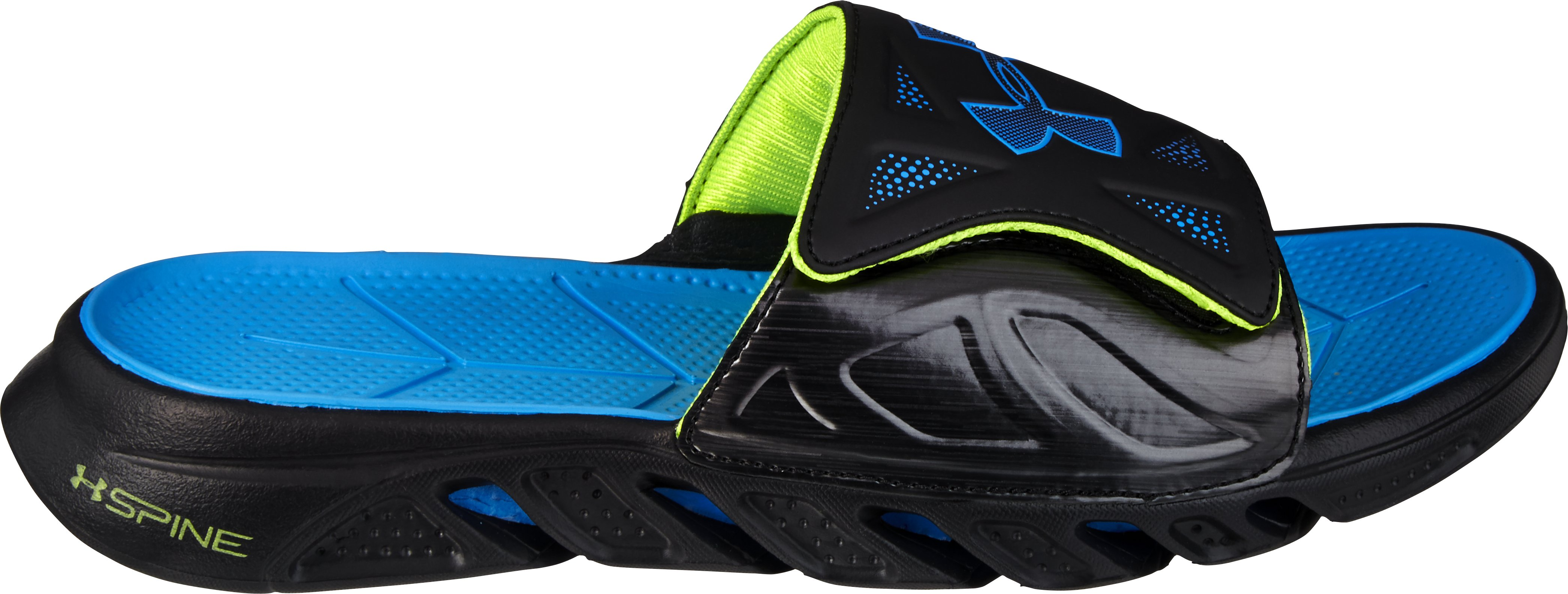 Boys' UA Spine™ Sandals, Black , zoomed image