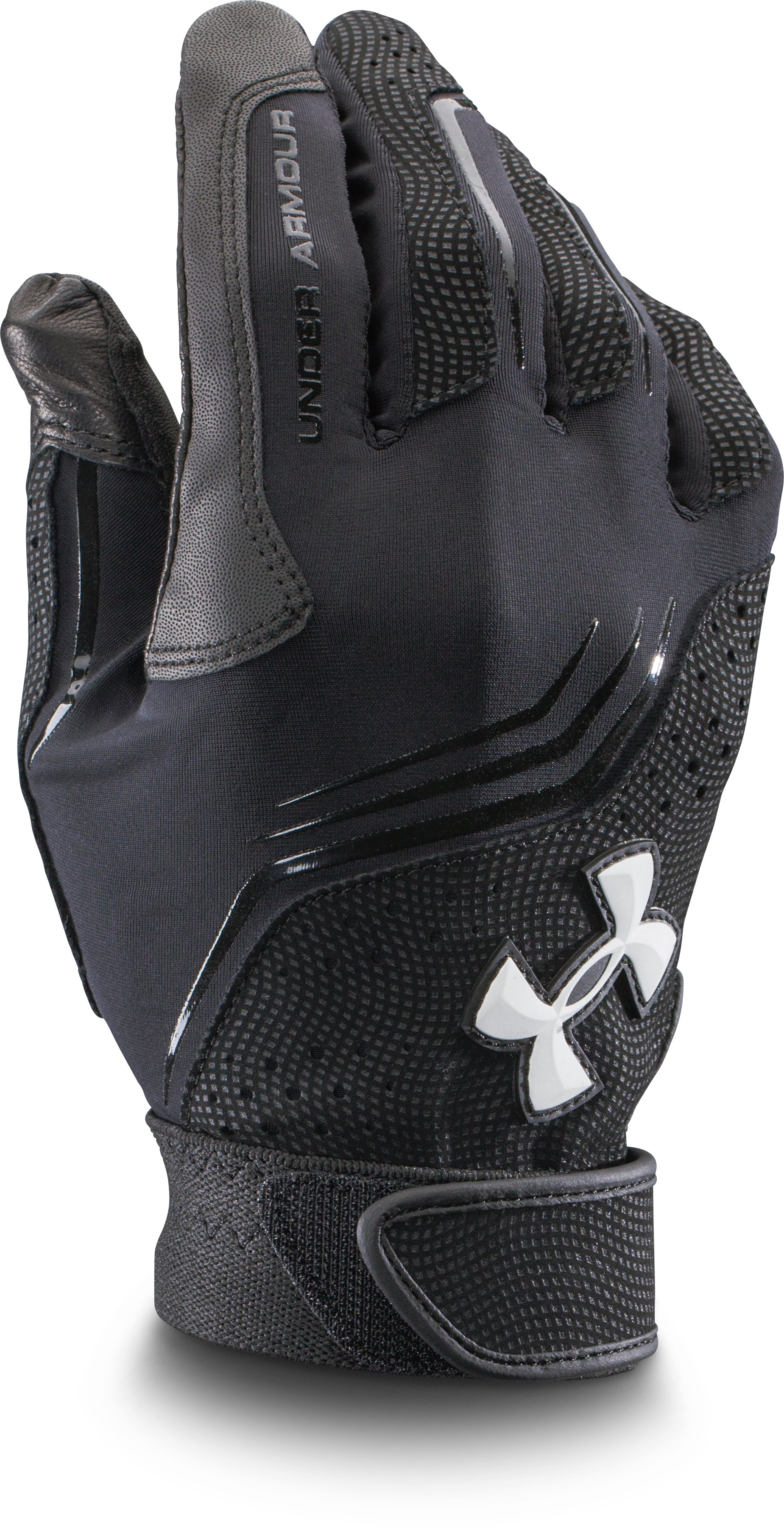Men's UA Clean Up Batting Gloves, Black ,