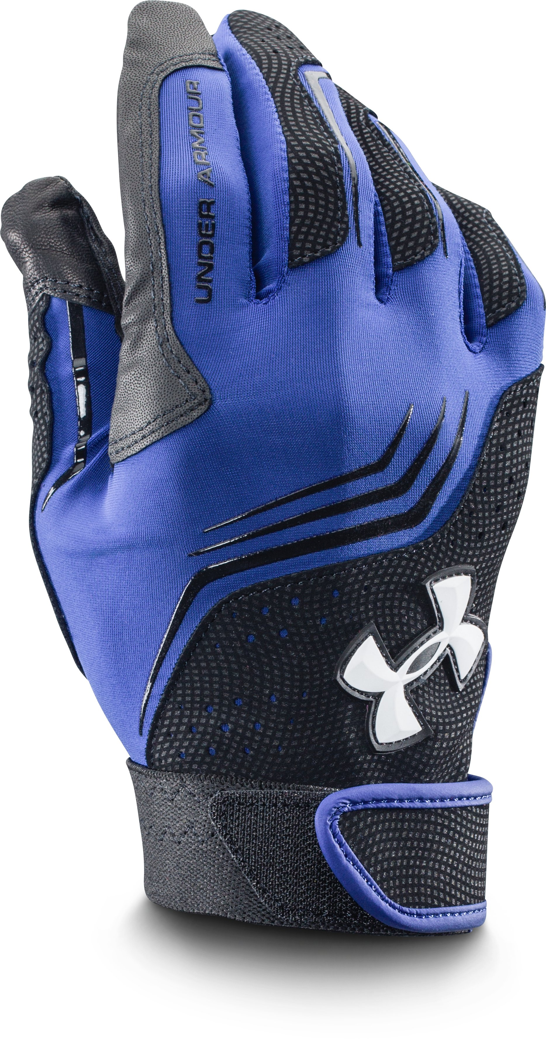 Men's UA Clean Up Batting Gloves, Royal, zoomed image
