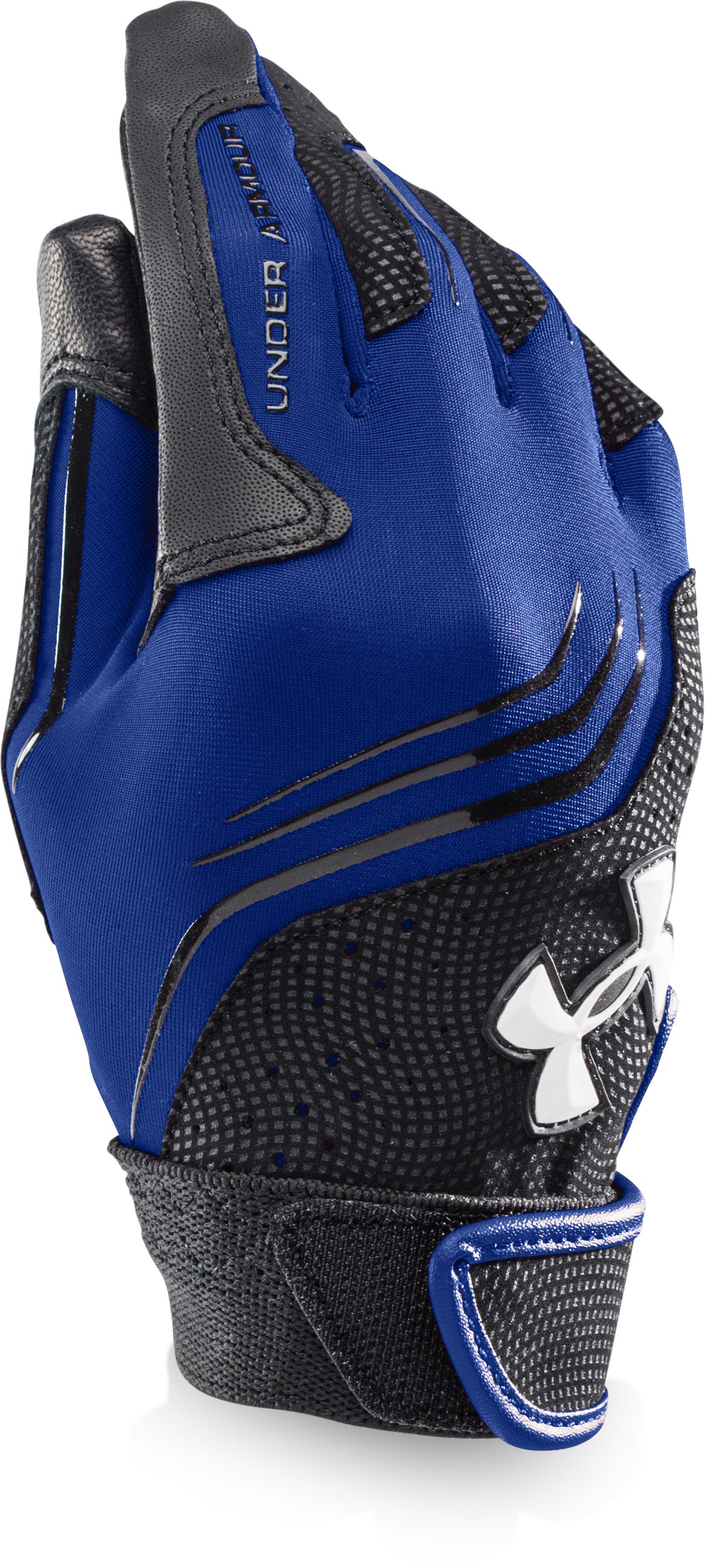 Boys' UA Clean Up Batting Gloves, Royal