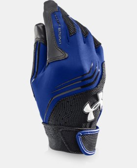 Boys' UA Clean Up Batting Gloves