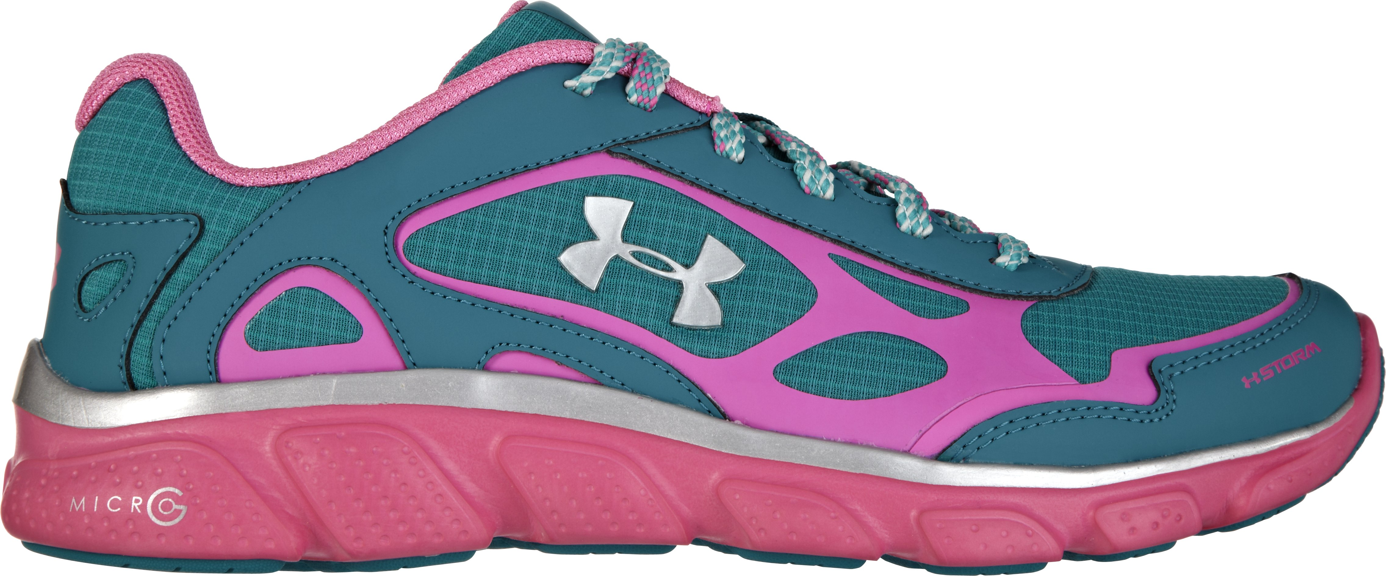 Girls' Grade School UA Micro G® Pulse Storm, CERULEAN, zoomed image
