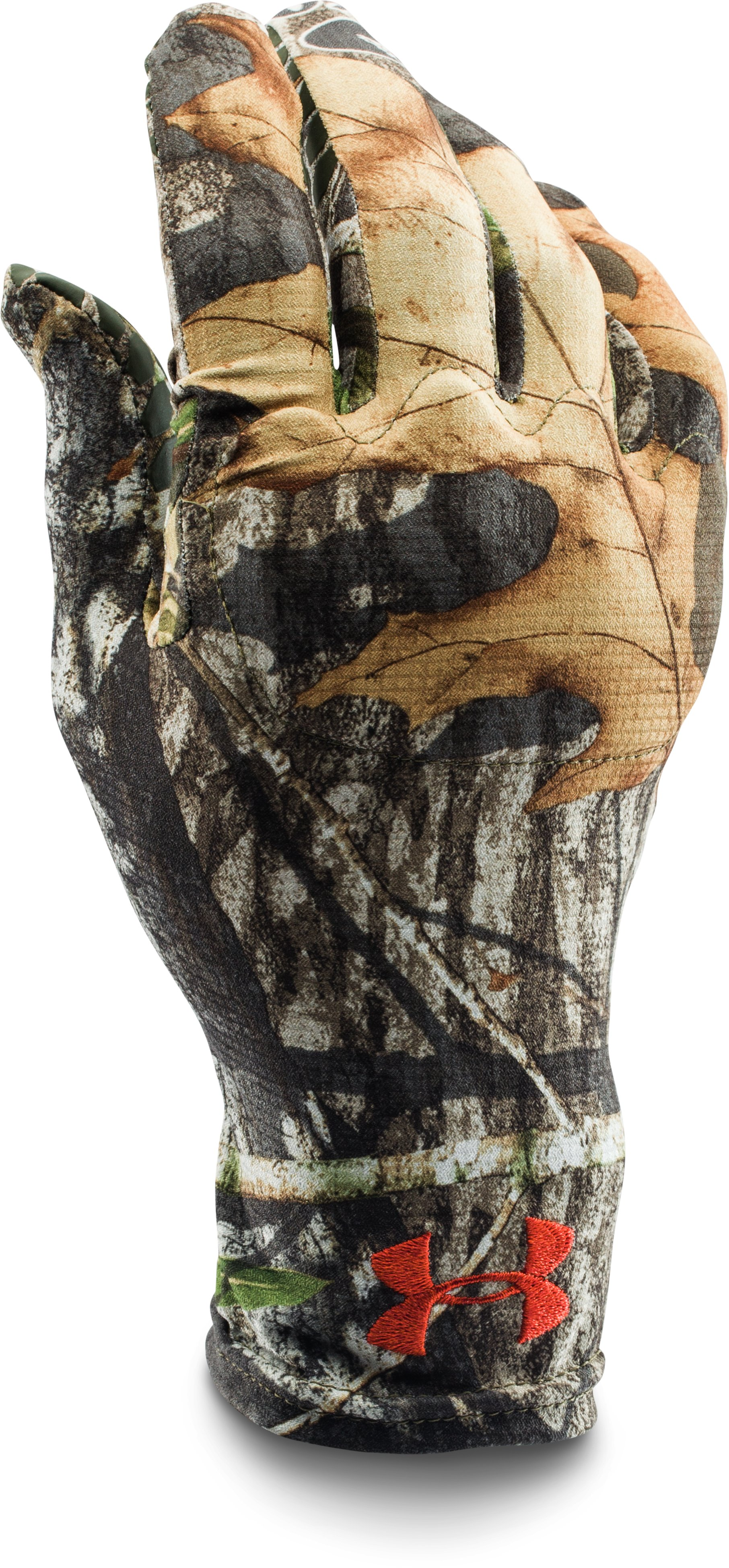 Men's UA Camo HeatGear® Liner Gloves, Mossy Oak Obsession, zoomed image