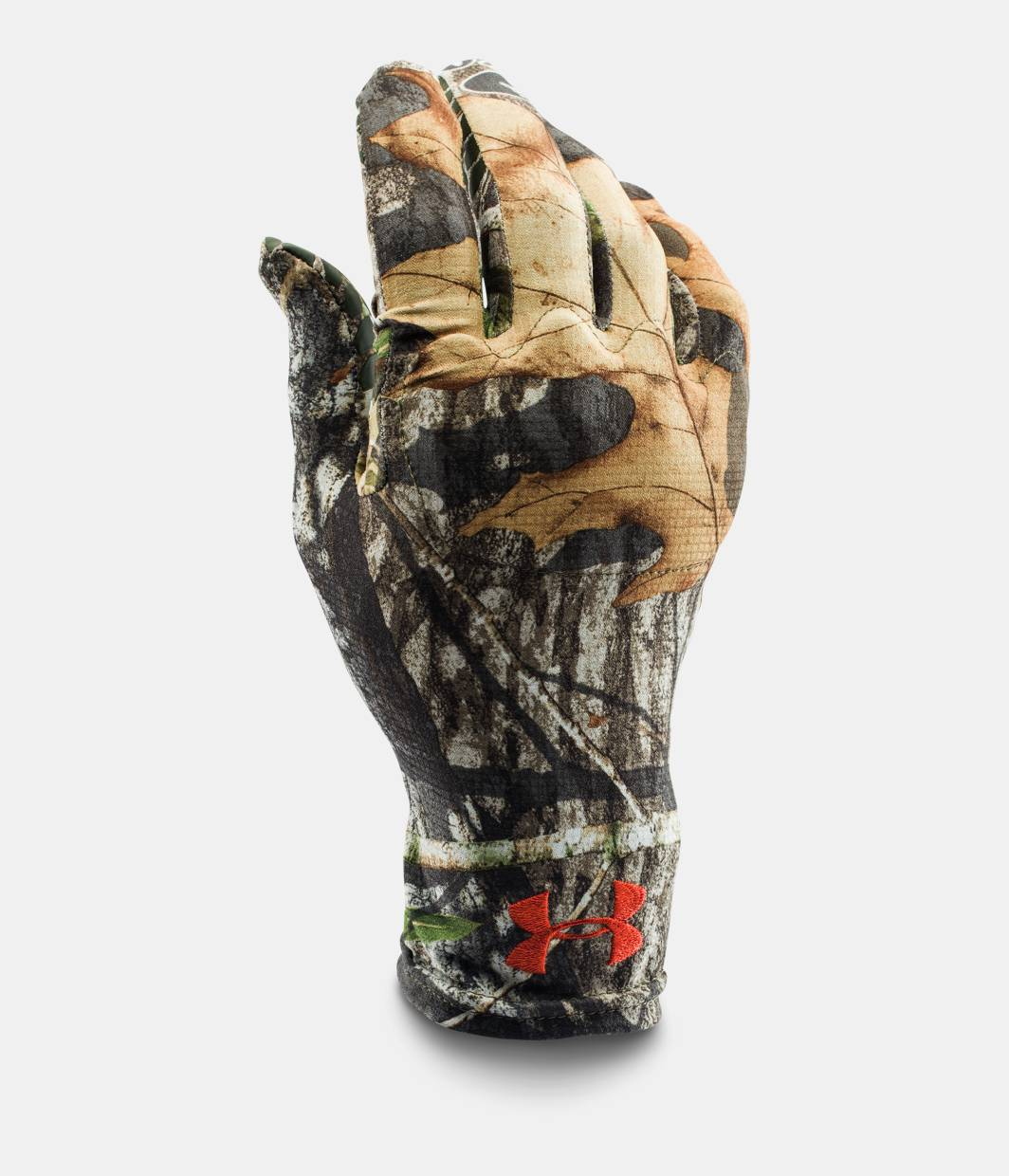 Under armour leather work gloves - Men S Ua Camo Heatgear Liner Gloves Mossy Oak Obsession Zoomed Image