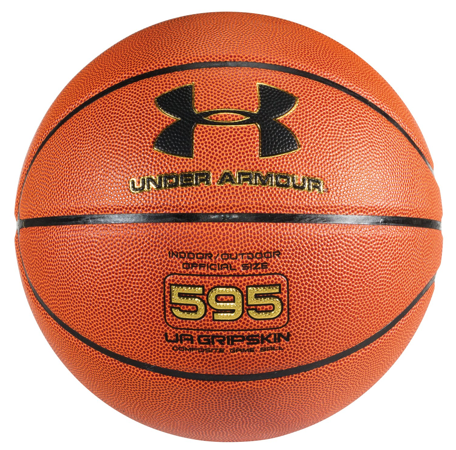 UA 595 Indoor/Outdoor Basketball, Dark Orange