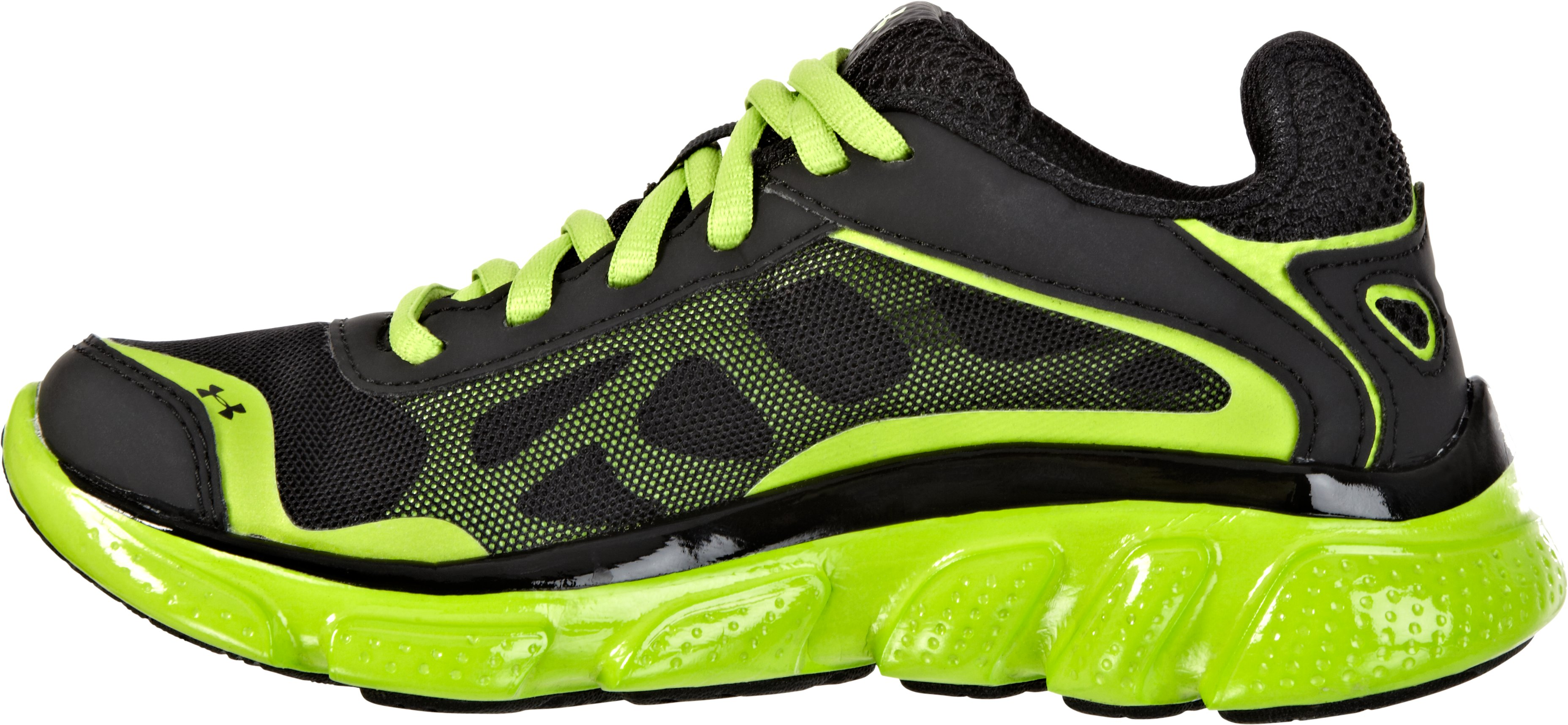 Boys' UA Pulse Pre-School Running Shoes, Black