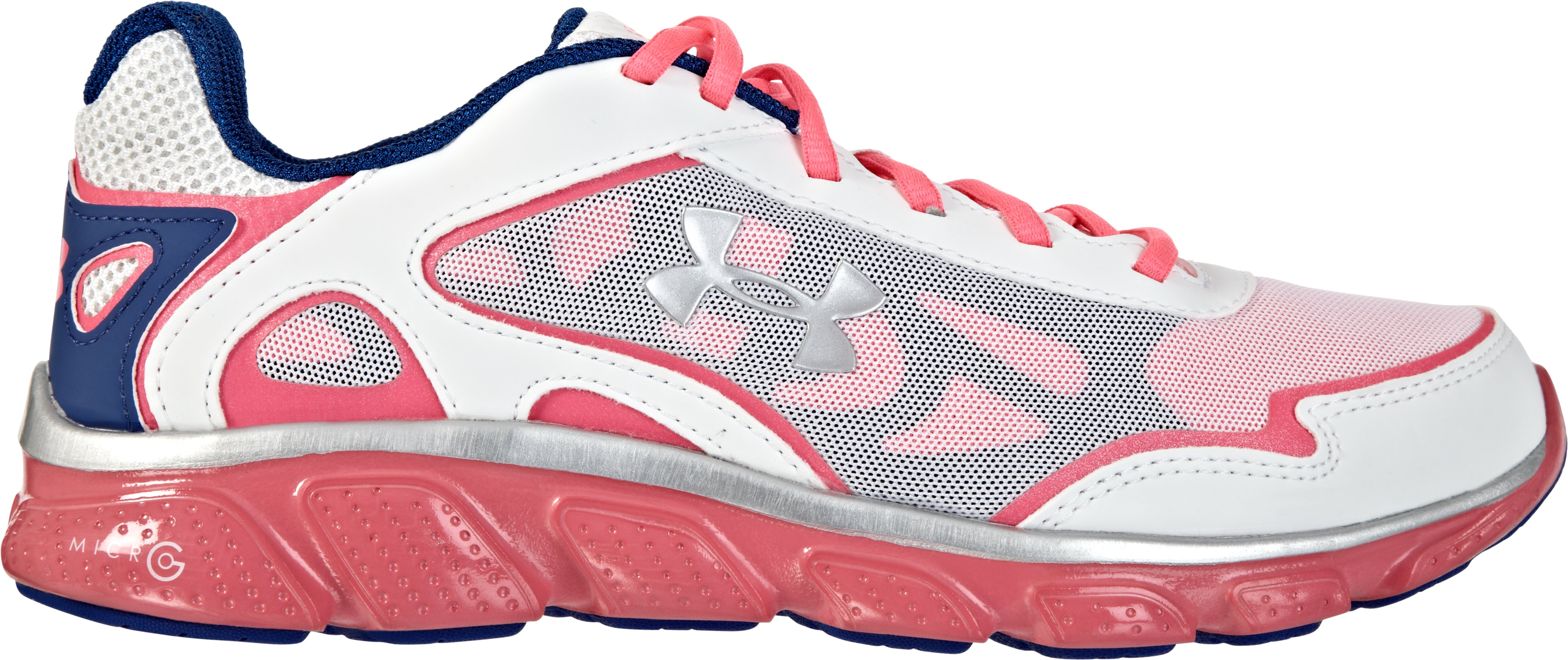 Girls' Grade School UA Micro G® Pulse Running Shoes, Neo Pulse, zoomed image