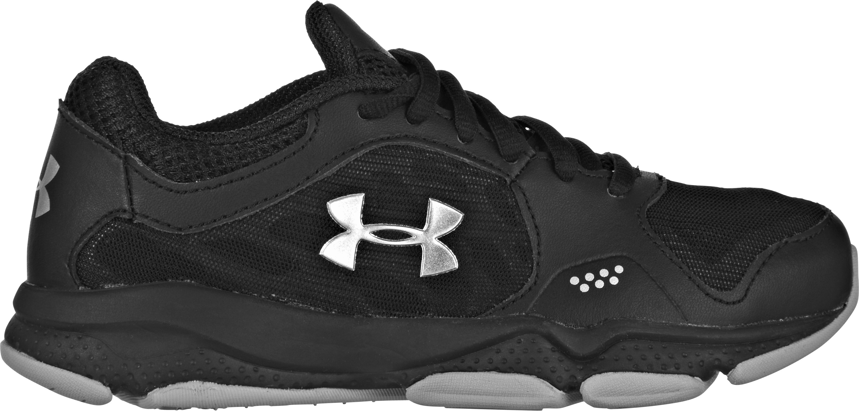 Boys' UA Pulse Pre-School Training Shoes, Black , zoomed image