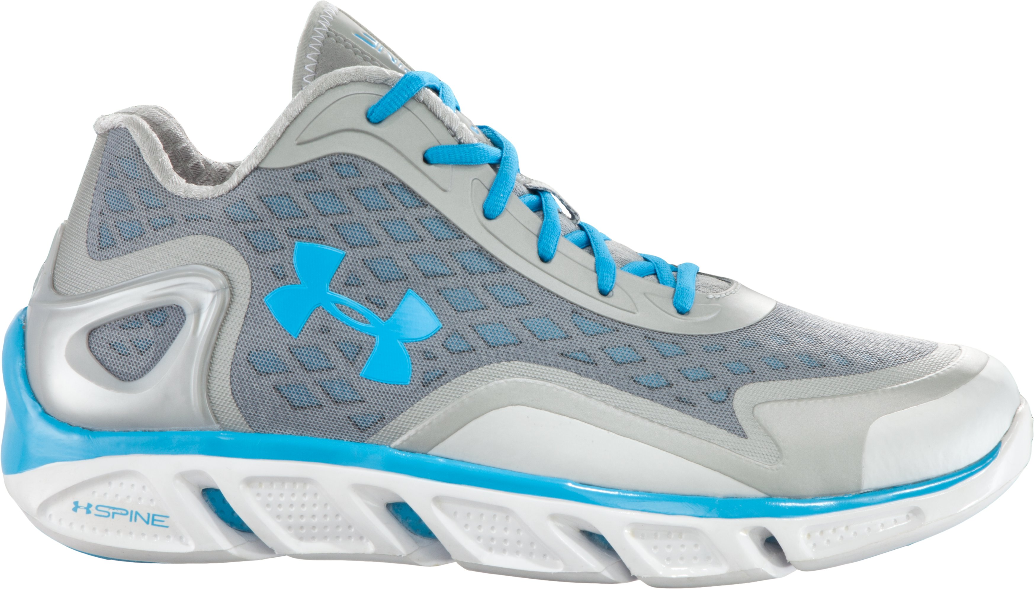 Men's UA Spine™ Bionic Low Basketball Shoes, Steel