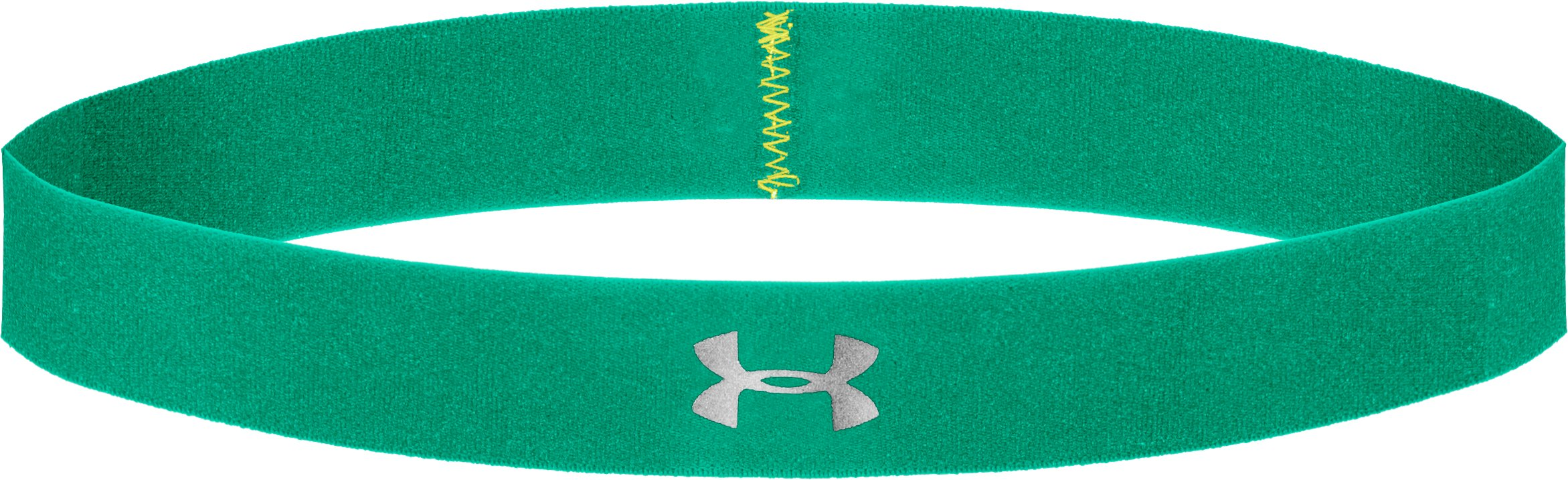 Women's UA Power Thru Headband, EMERALD LAKE, zoomed image