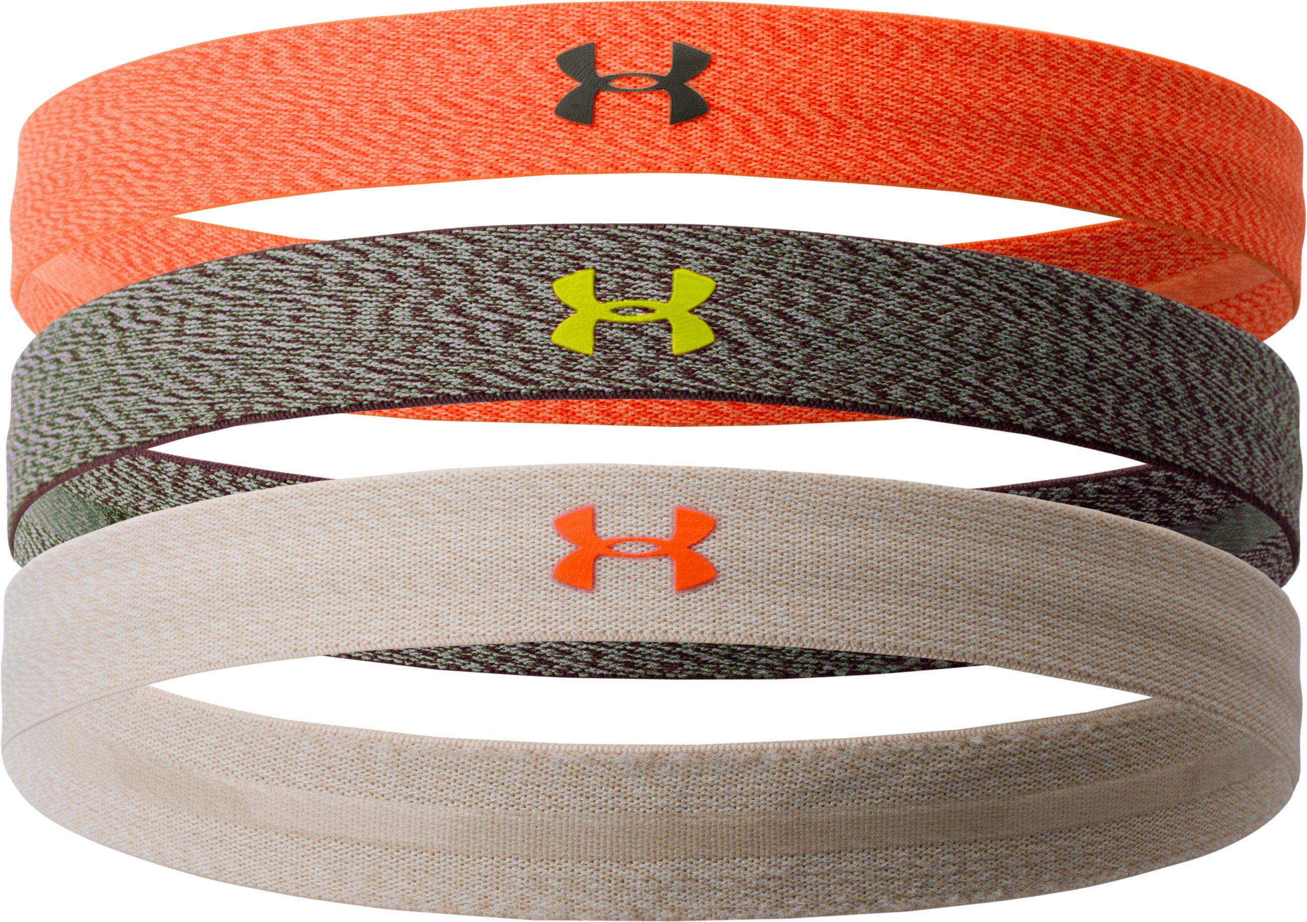 Women's UA Heathered Headband Multipack – 3pk, Rifle Green
