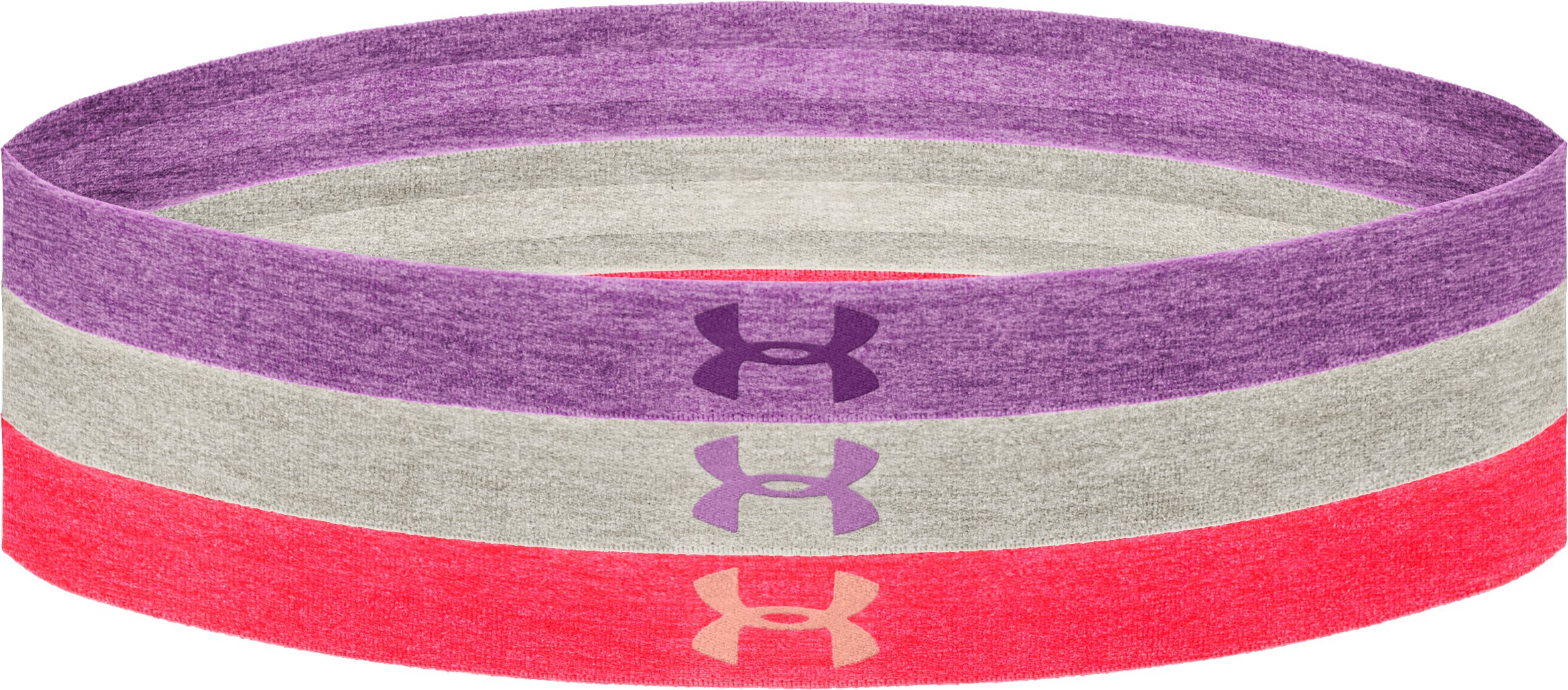 Women's UA Heathered Headband Multipack – 3pk, EXOTIC BLOOM, undefined