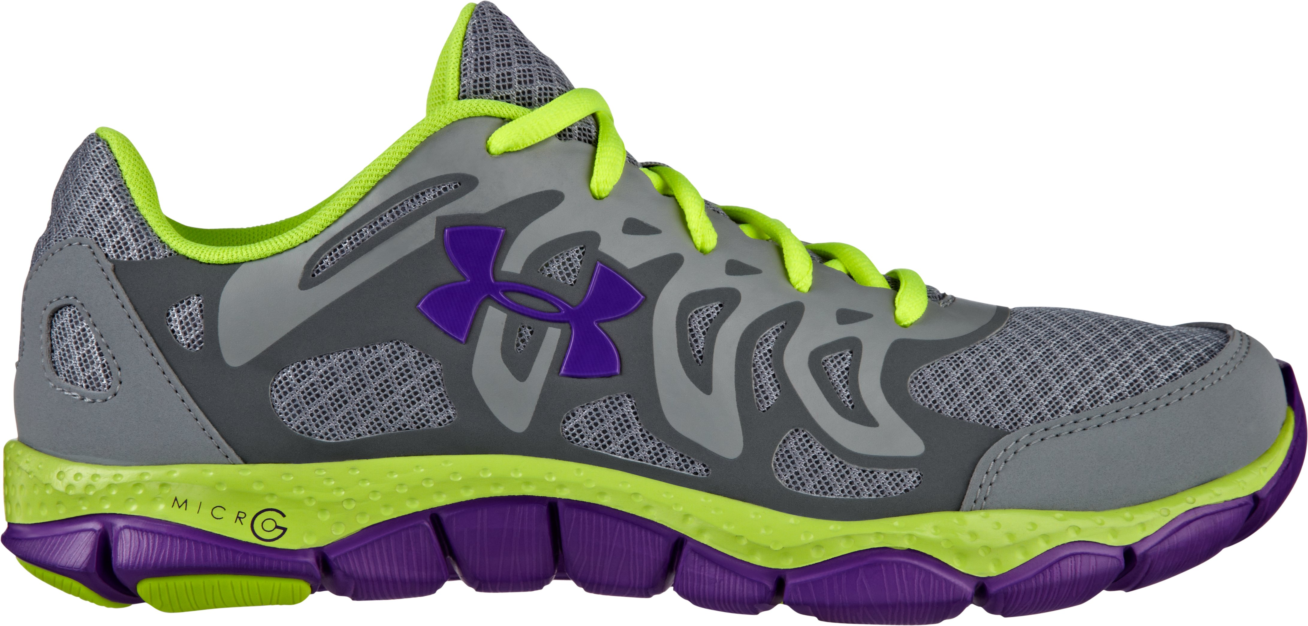 Women's UA Micro G® Engage Running Shoes, Steel, zoomed image