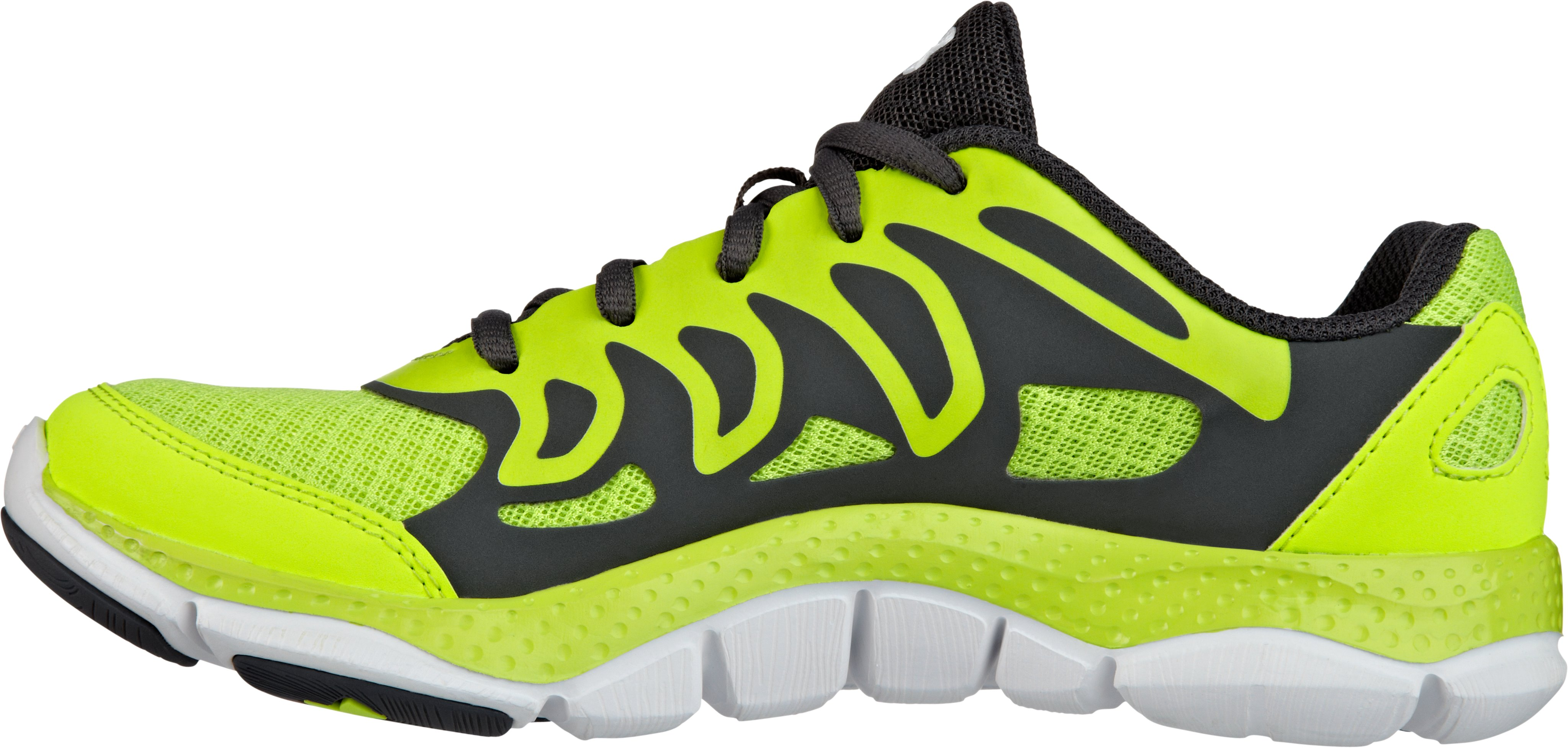 Boys' Micro G® Engage Grade School Running Shoes, High-Vis Yellow