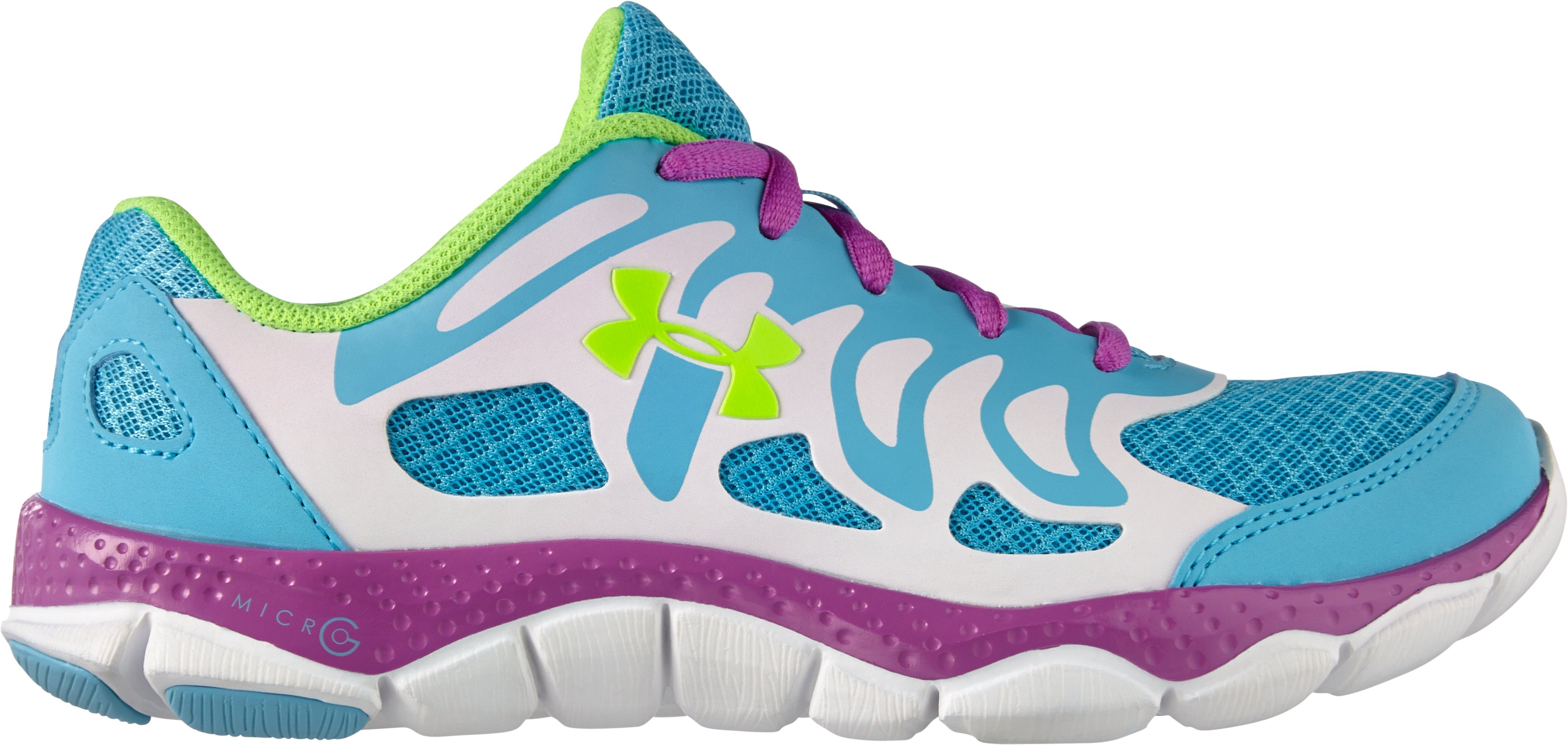 Girls' Grade School UA Micro G® Engage Running Shoes, Cruise