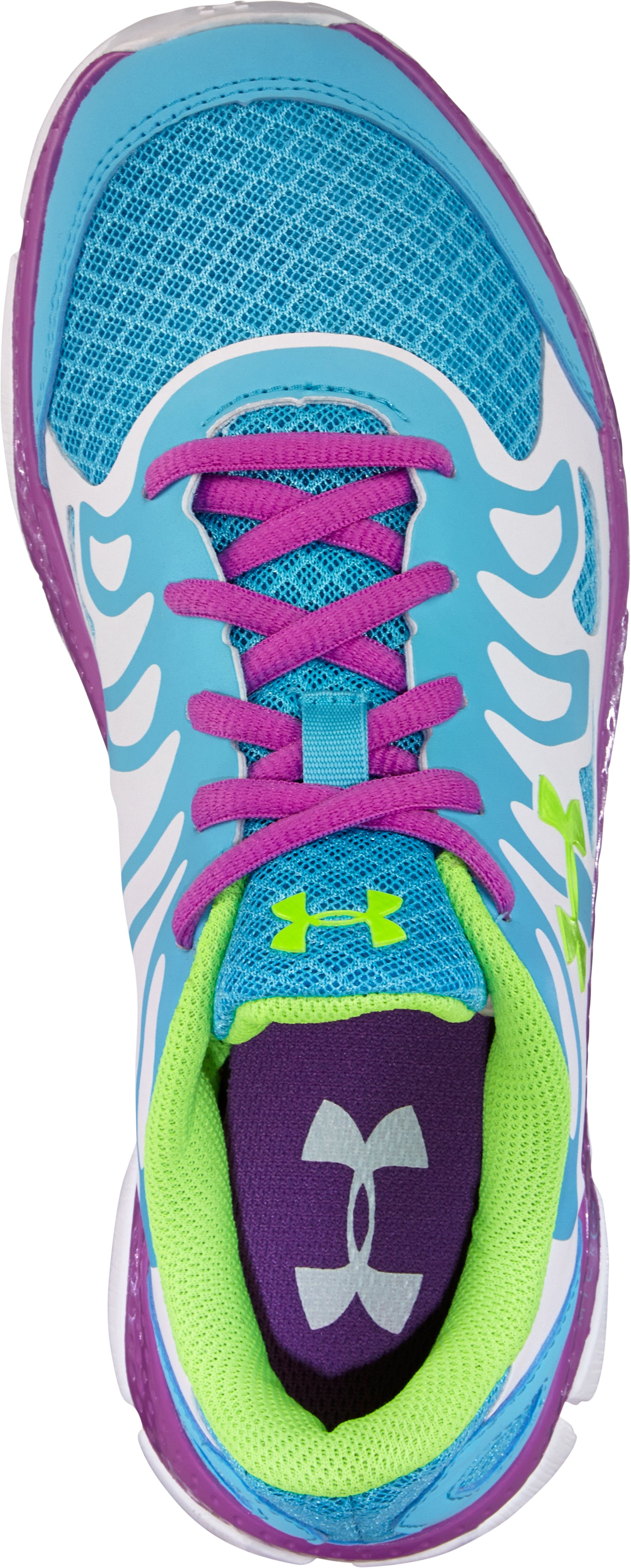 Girls' Grade School UA Micro G® Engage Running Shoes, Cruise,