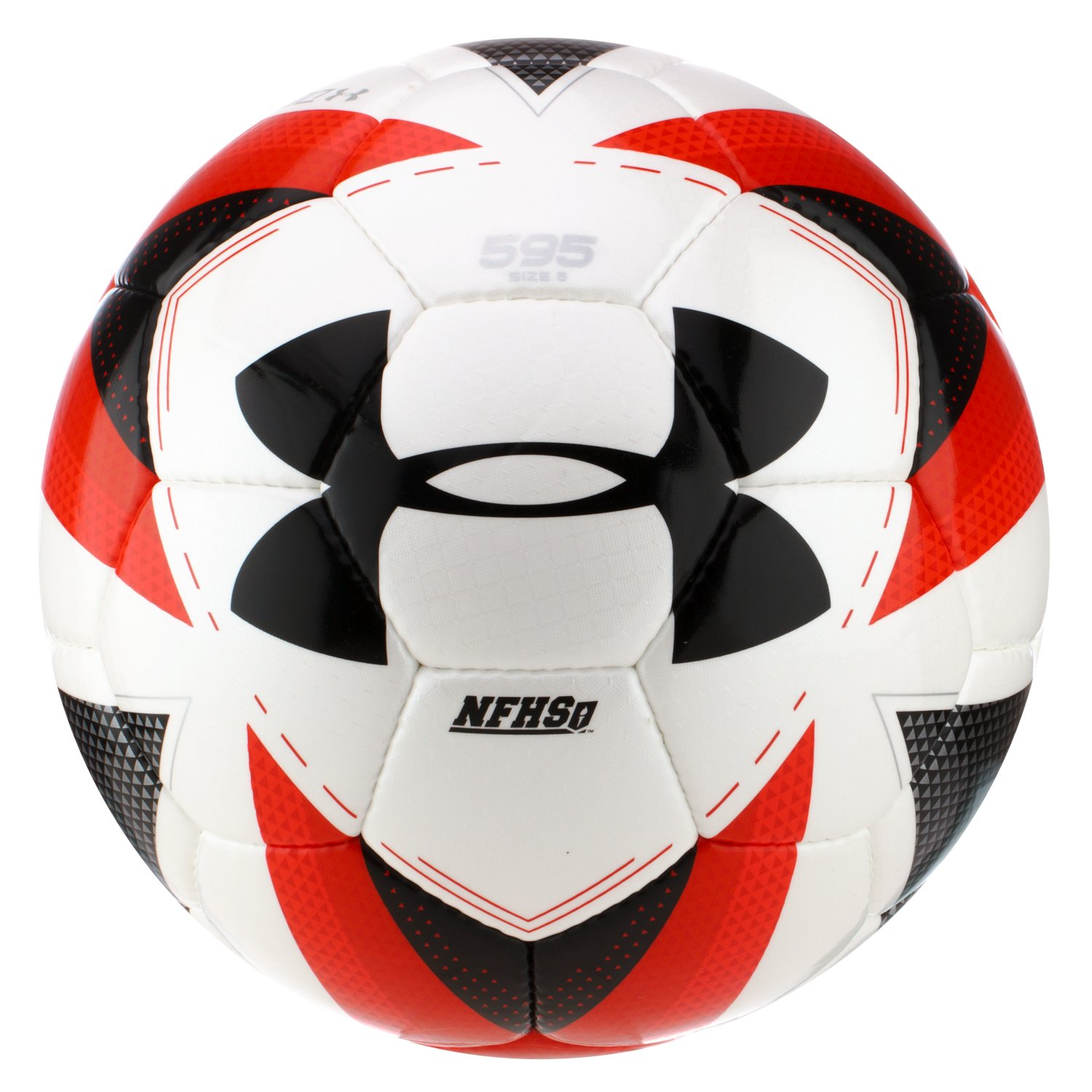 UA 595 Match Play Soccer Ball, White, undefined