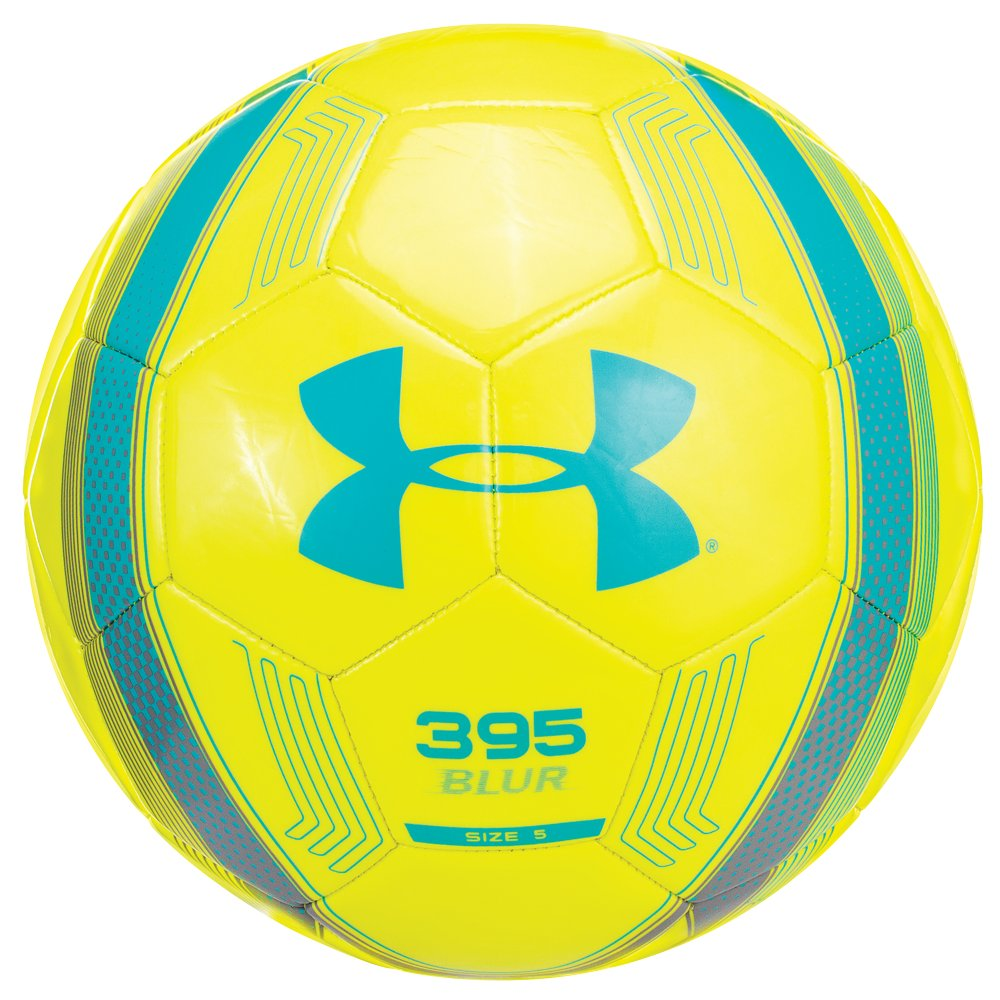 UA 395 Soccer Ball, High-Vis Yellow, zoomed image