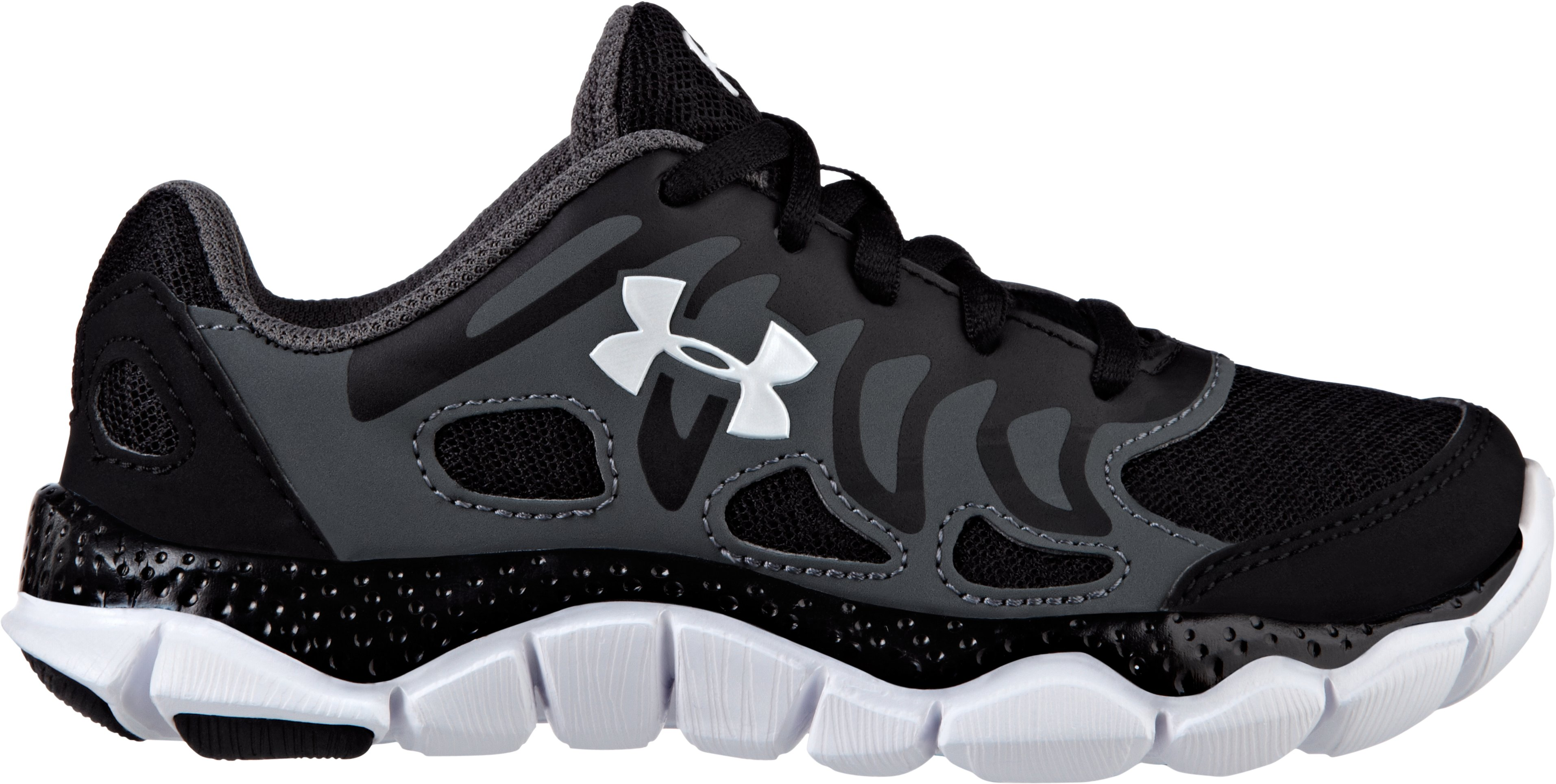 Boys' UA Engage Pre-School Shoes, Black , zoomed image