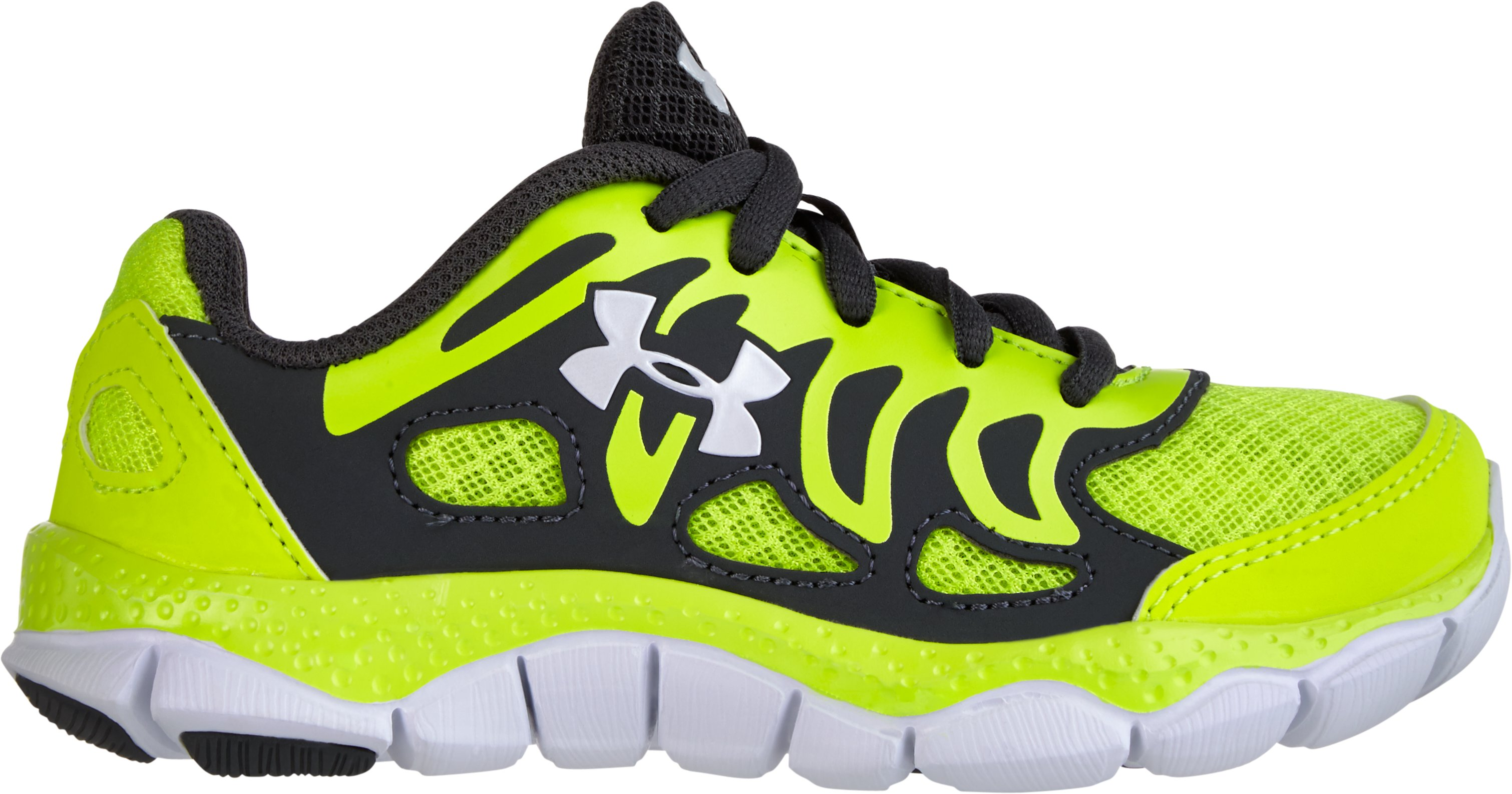 Boys' UA Engage Pre-School Shoes, High-Vis Yellow, zoomed image