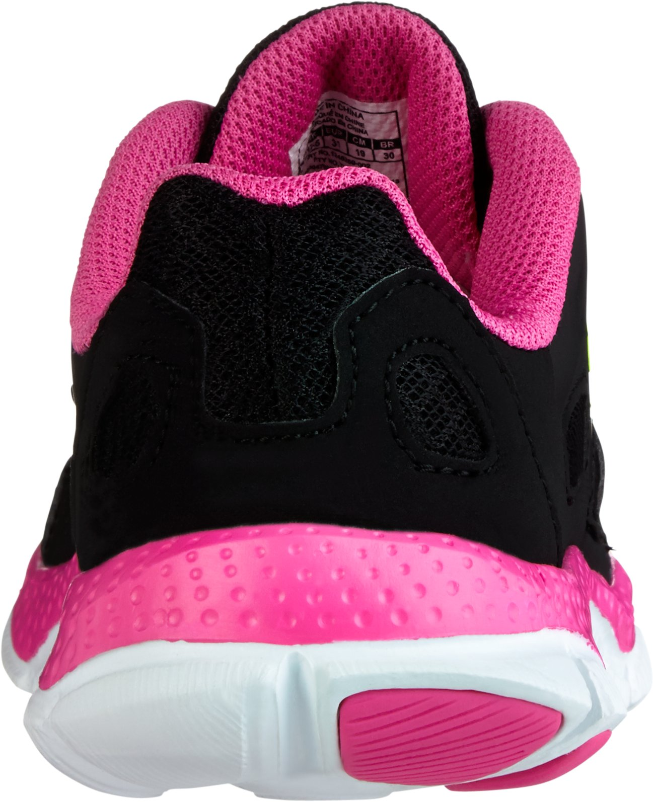 Girls' Pre-School UA Engage Running Shoes, Black