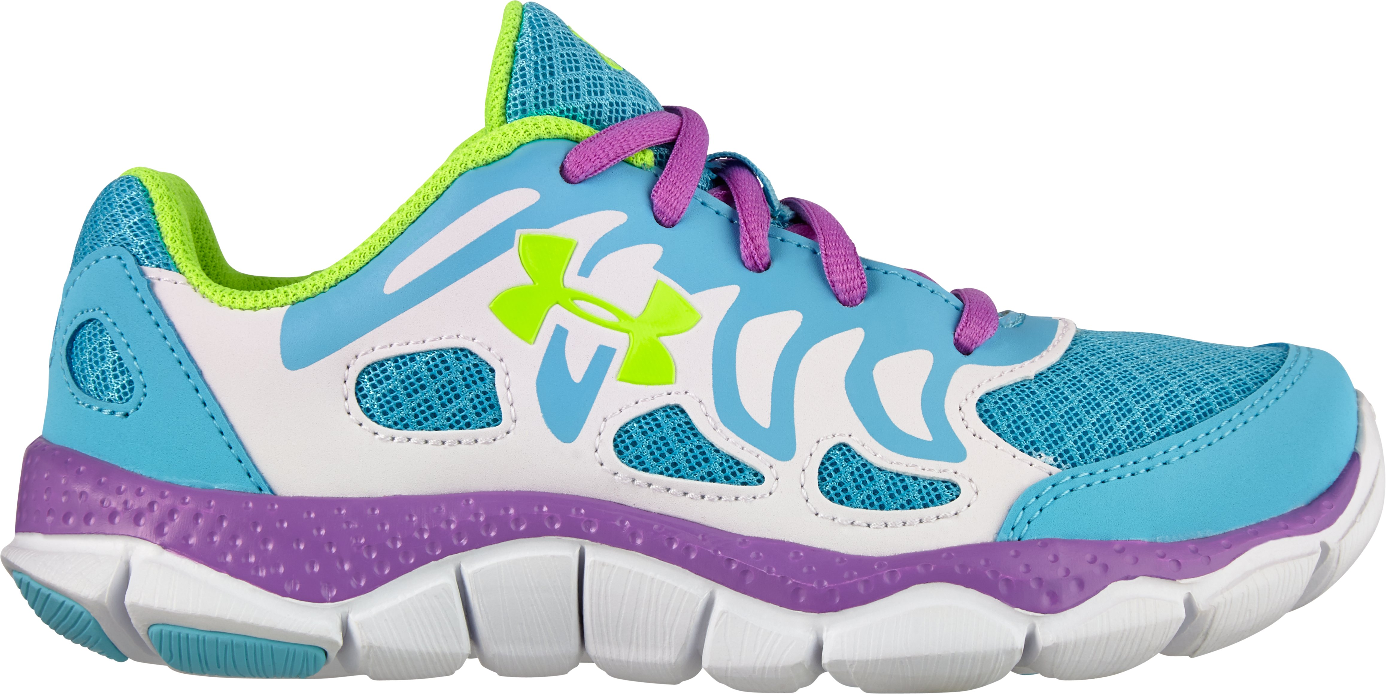 Girls' Pre-School UA Engage Running Shoes, Cruise, zoomed image