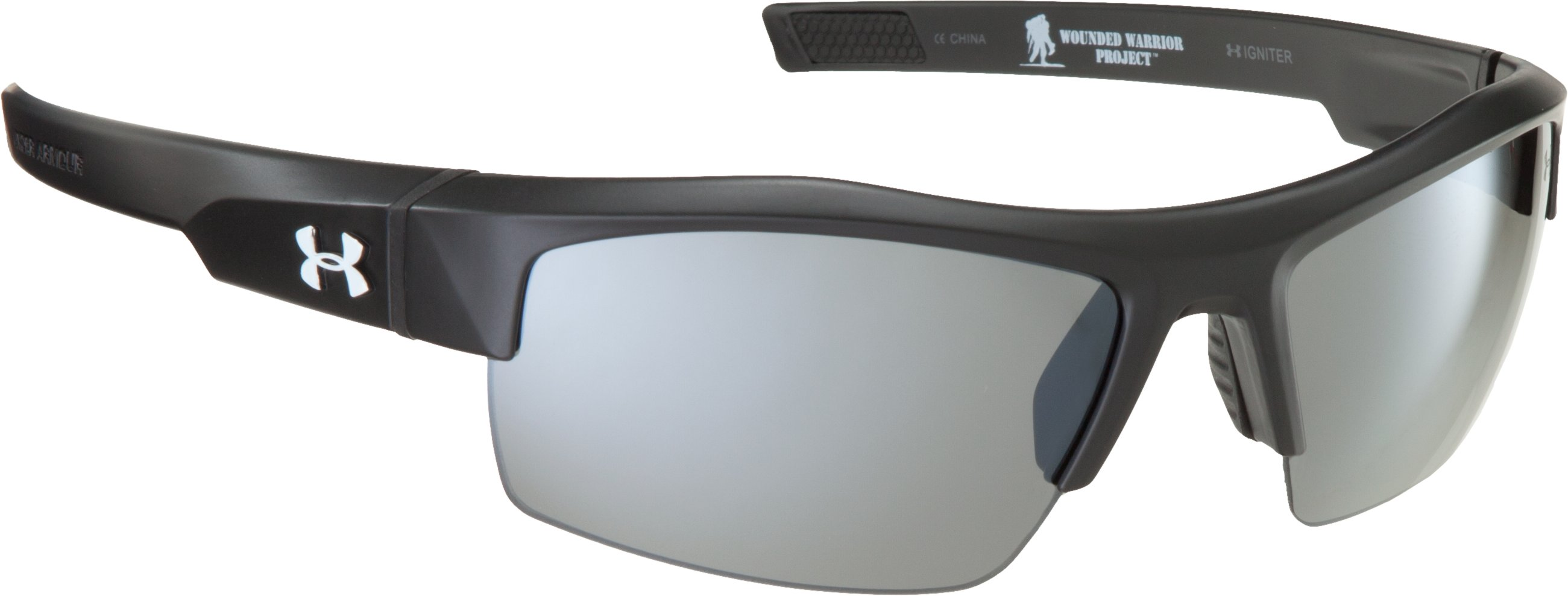 WWP UA Igniter Sunglasses, Satin Black, undefined